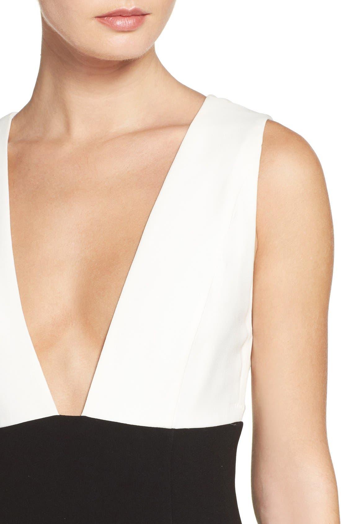 Alternate Image 4  - Jill Jill Stuart Colorblock Plunge Gown