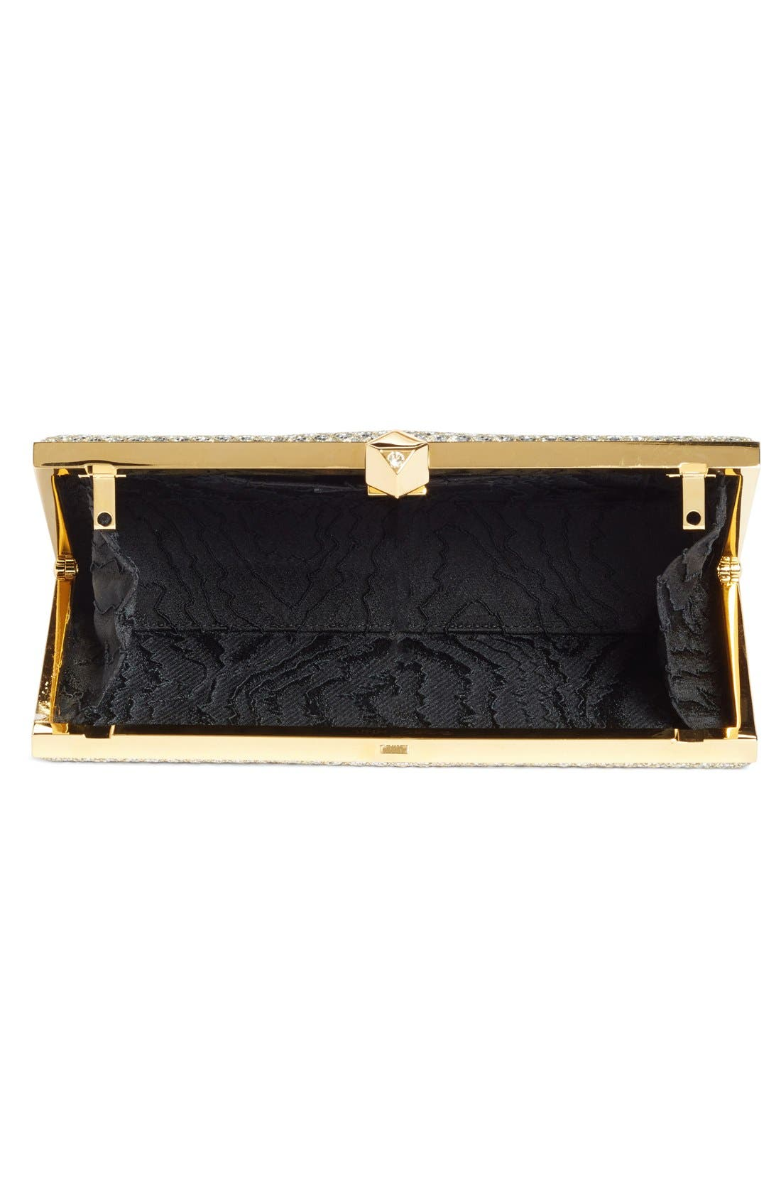 Alternate Image 4  - Jimmy Choo Celeste Glitter Frame Clutch