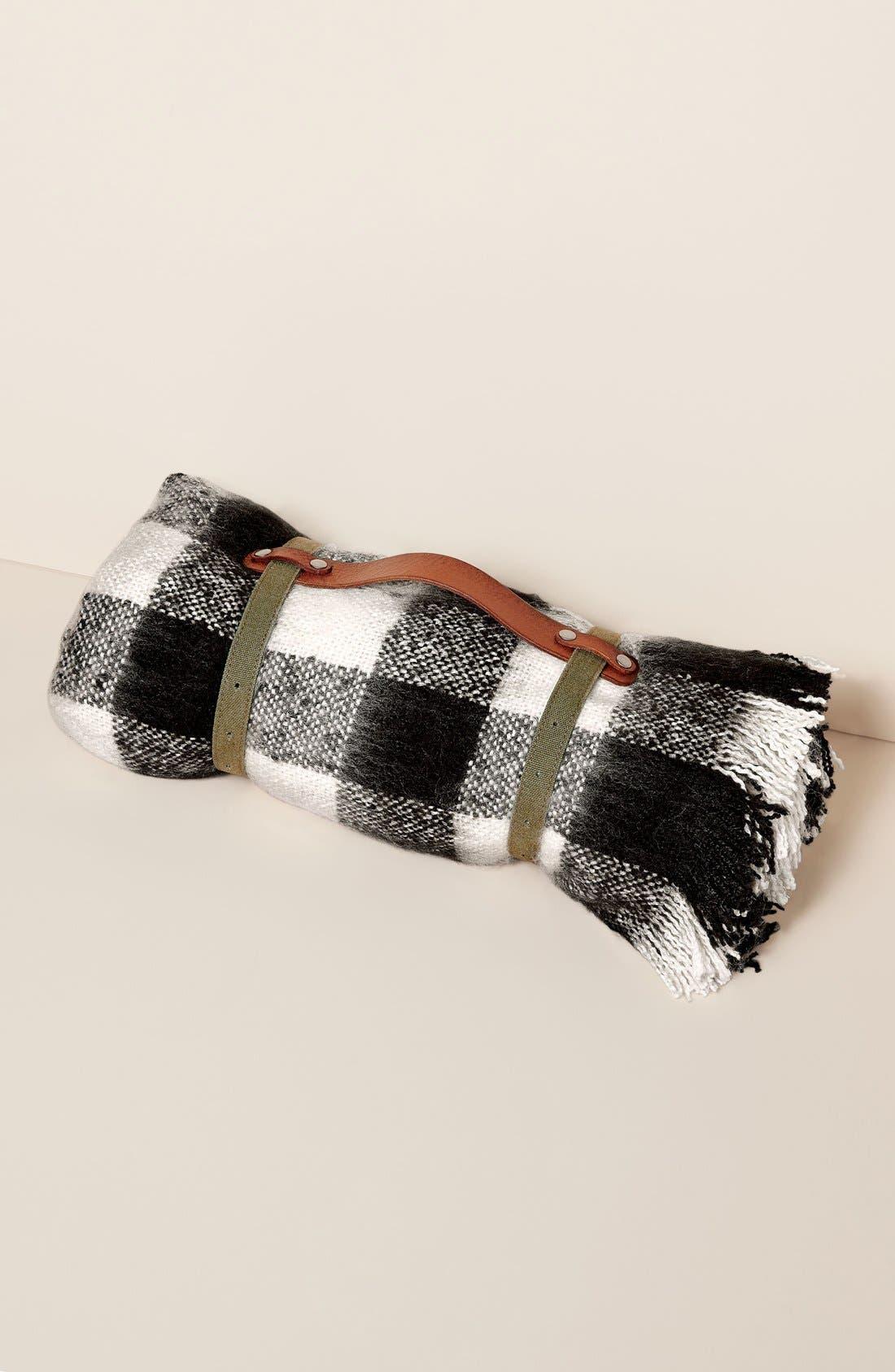 Alternate Image 8  - Treasure&Bond Buffalo Check Blanket Wrap