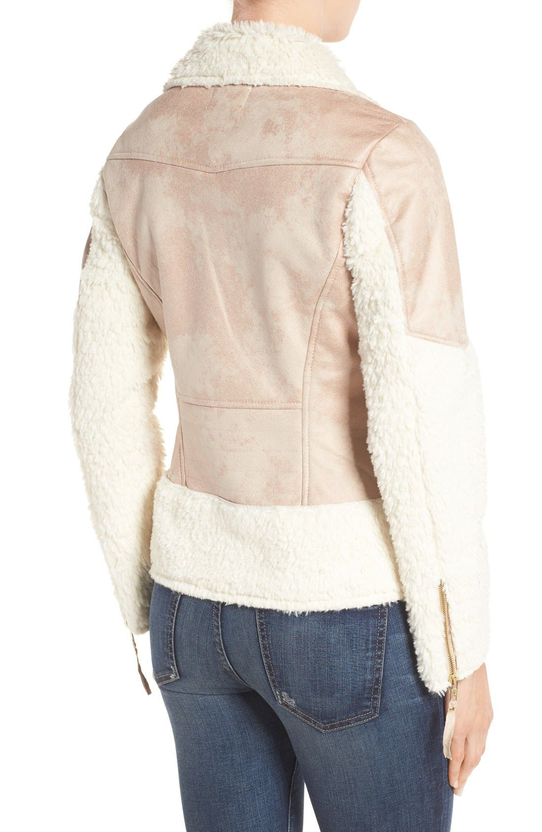 Alternate Image 2  - KUT from the Kloth Baylee Faux Shearling Jacket