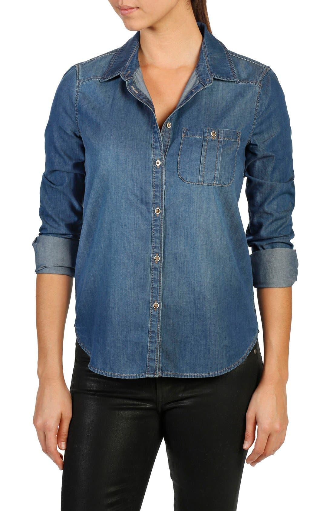 Alternate Image 1 Selected - PAIGE Trista Denim Shirt