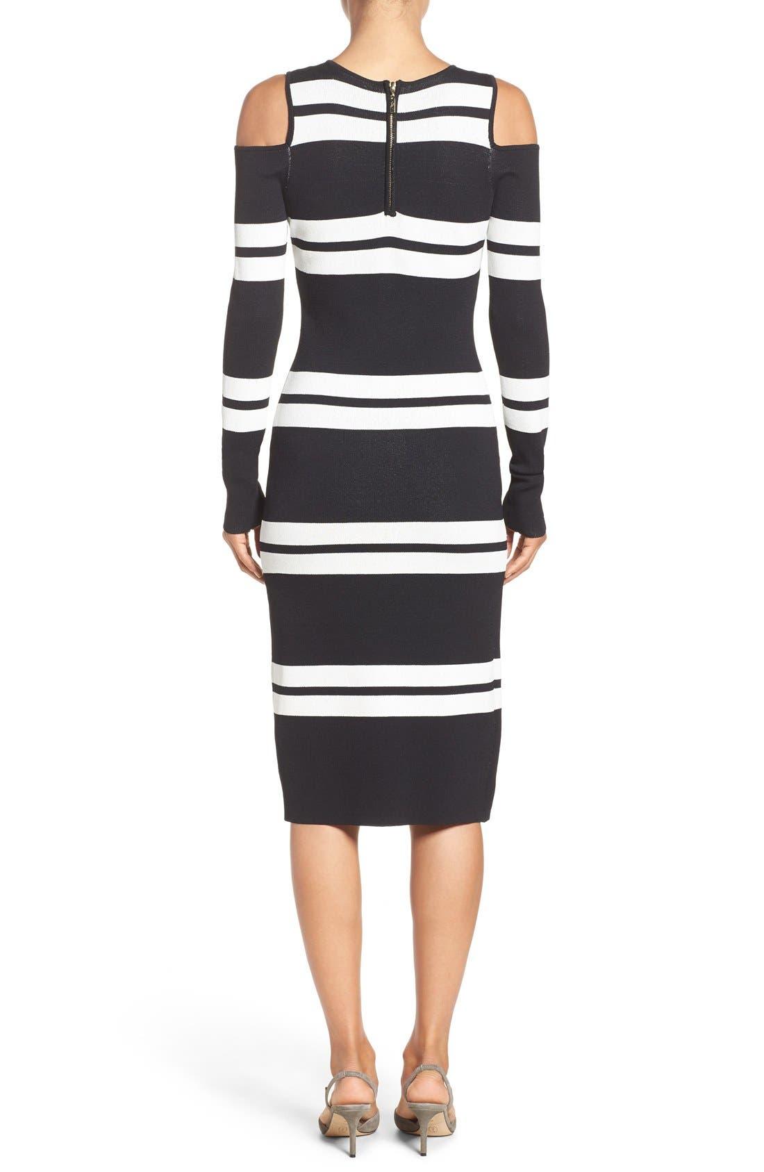 Alternate Image 2  - Eliza J Stripe Midi Dress (Regular & Petite)