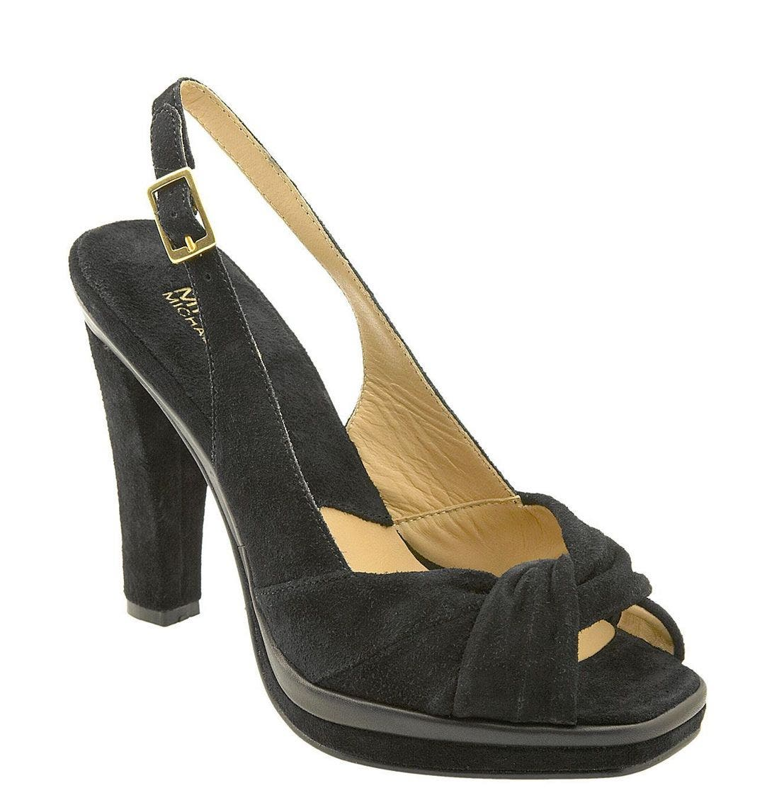 Alternate Image 1 Selected - MICHAEL Michael Kors 'Raceway' Platform Slingback