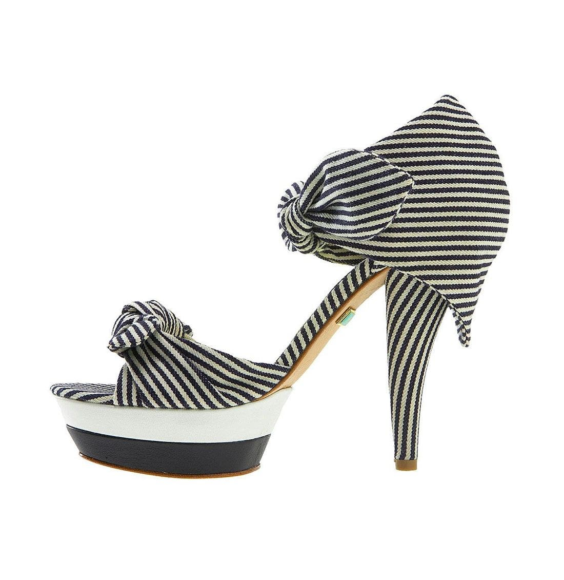 Alternate Image 2  - L.A.M.B. 'Dominic' Striped Sandal