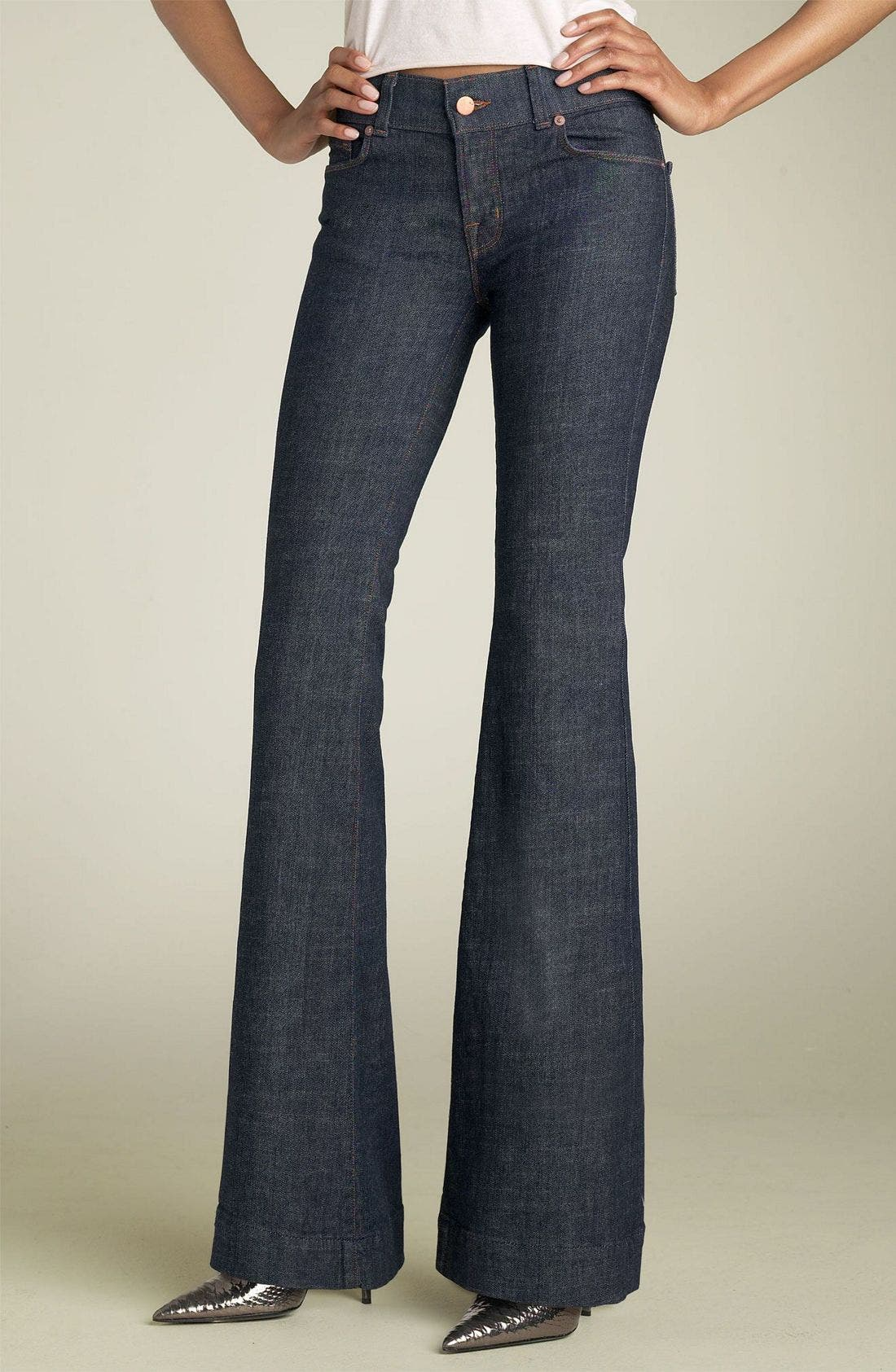 Alternate Image 2  - J Brand 'Lovestory' Low Rise Bell Bottom Stretch Jeans (Miner)