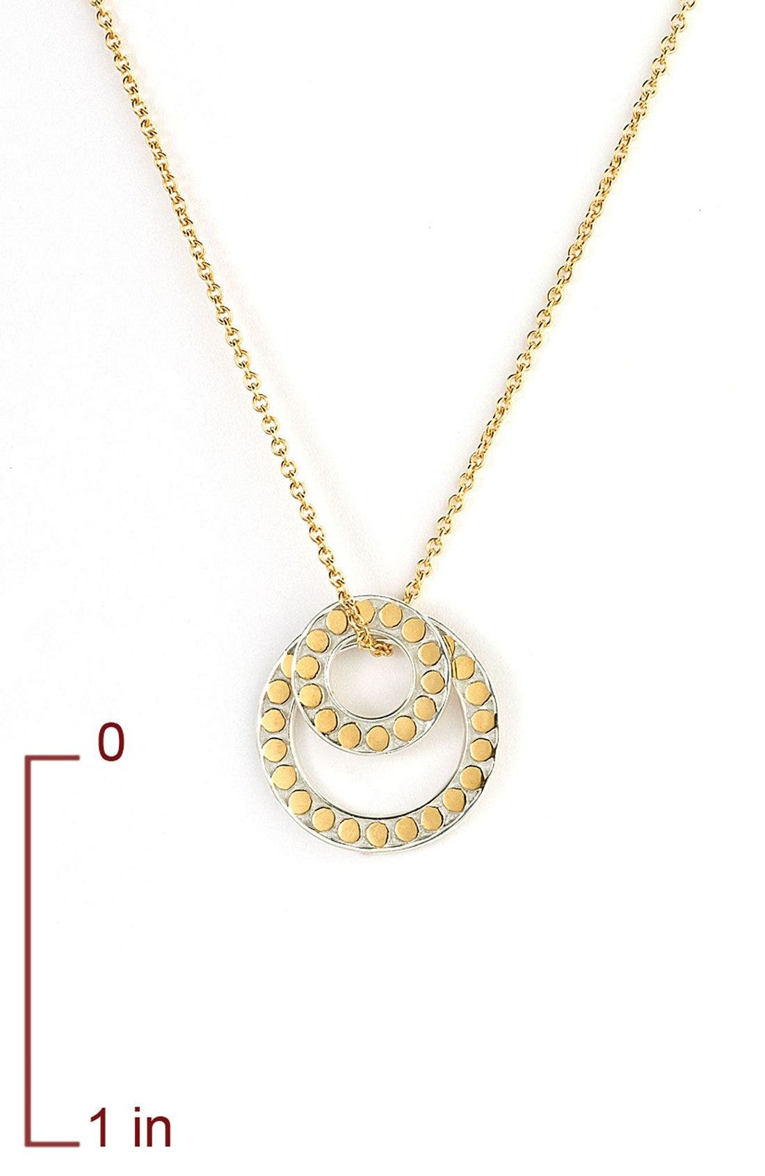 Alternate Image 3  - Anna Beck 'Floating O' Double Circle Necklace