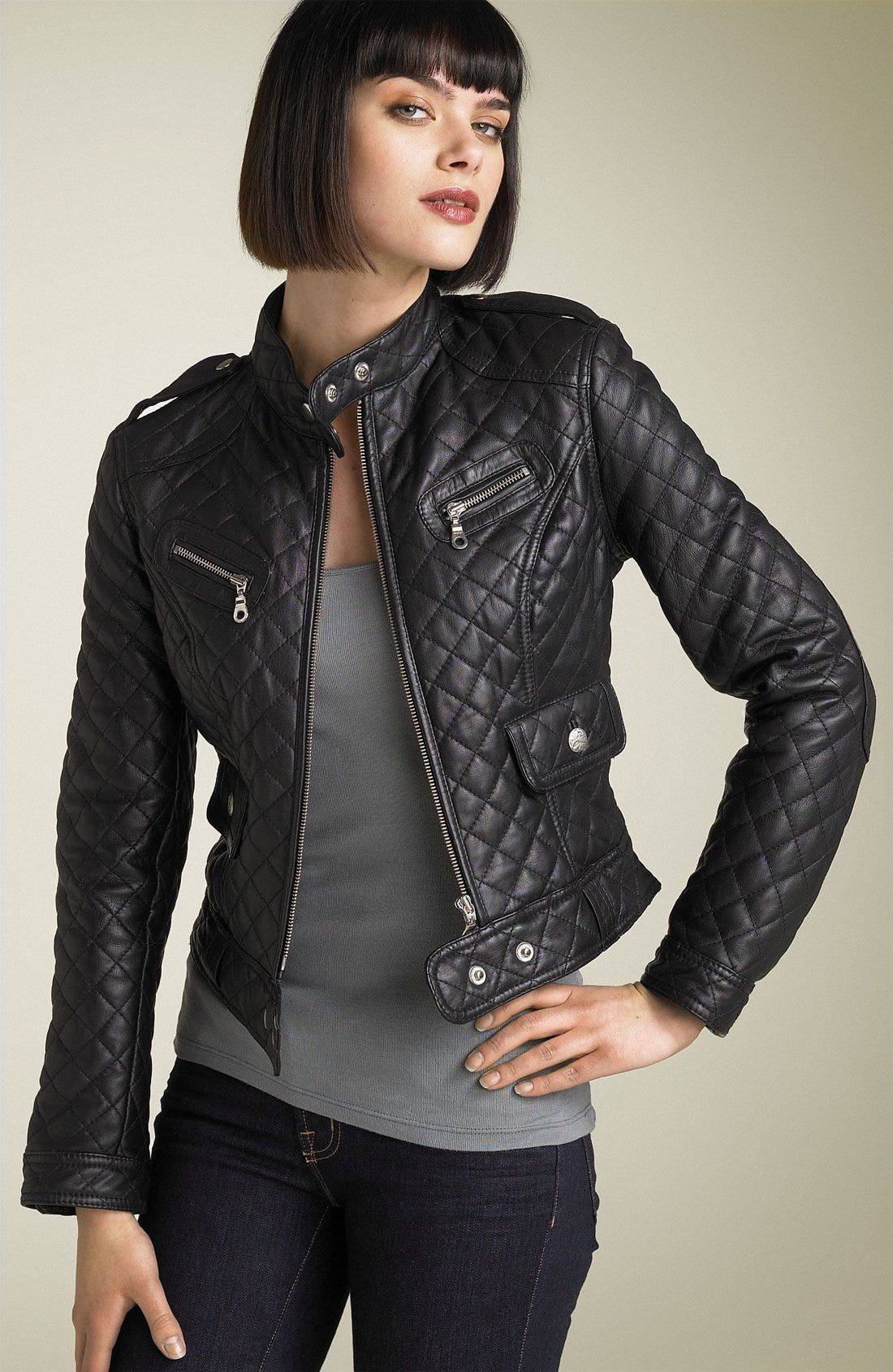 Kenna-T Quilted Leather Moto Jacket | Nordstrom