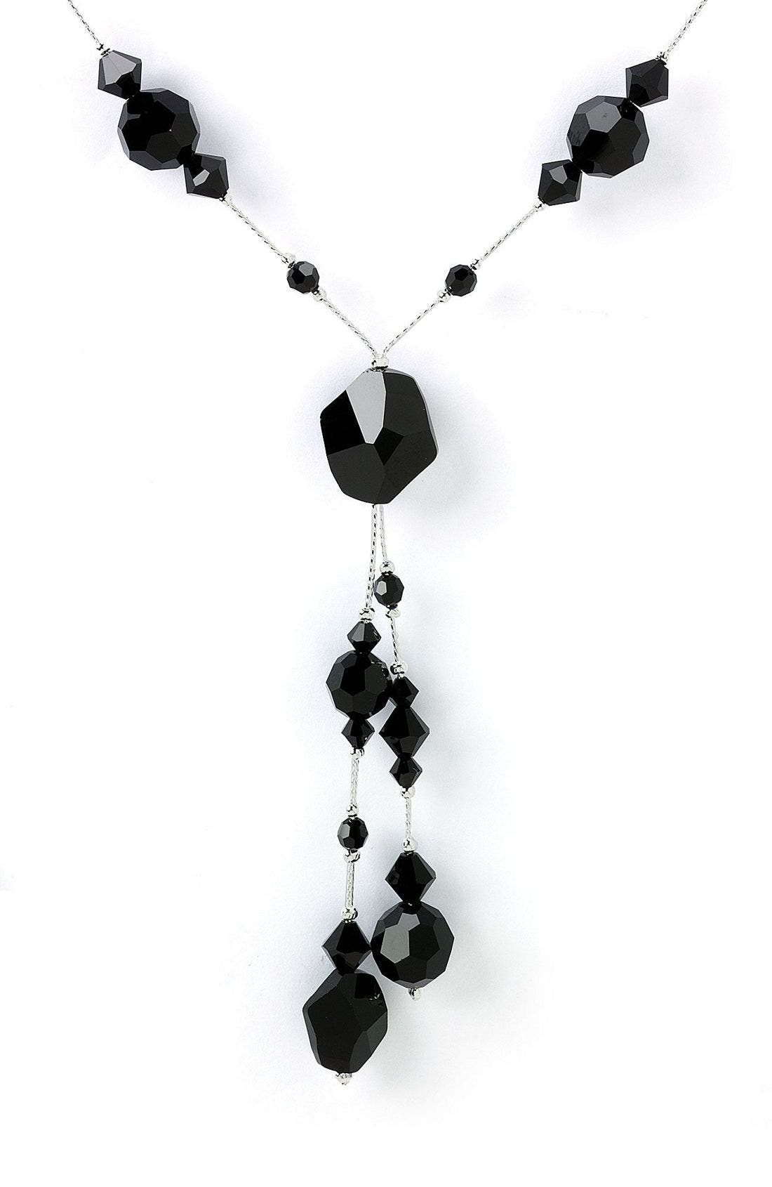 Alternate Image 1 Selected - Nordstrom Crystal Collection Briolette X-Style Necklace