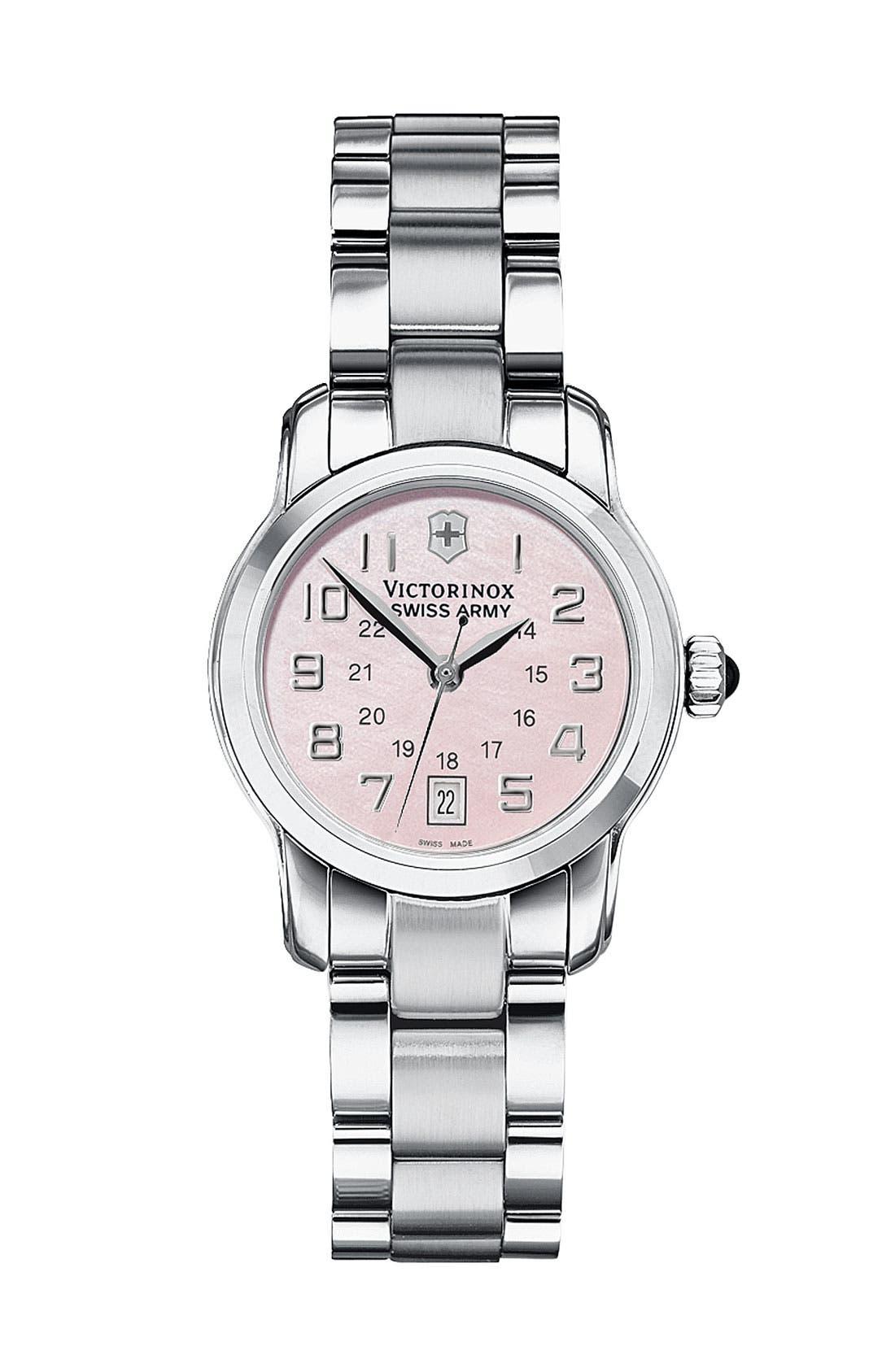 Alternate Image 1 Selected - Victorinox Swiss Army® 'Vivante' 28mm Bracelet Watch