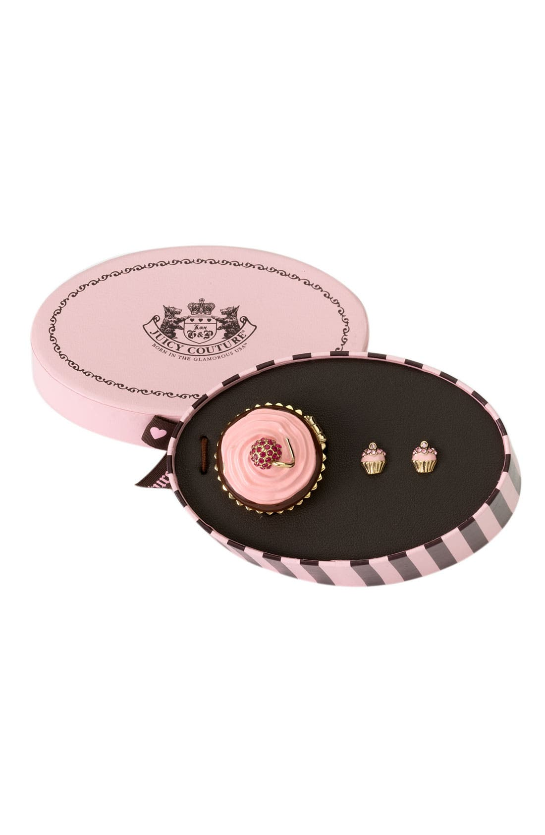 Alternate Image 2  - Juicy Couture 'Puff' Earrings & Jewelry Box