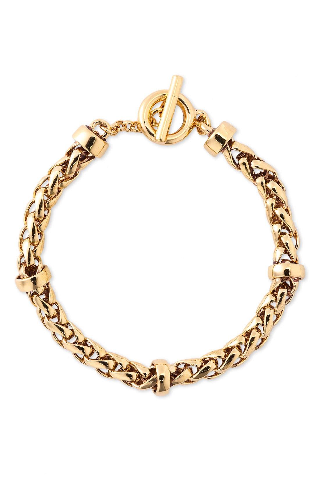 Alternate Image 1 Selected - Lauren by Ralph Lauren Braided Chain Bracelet