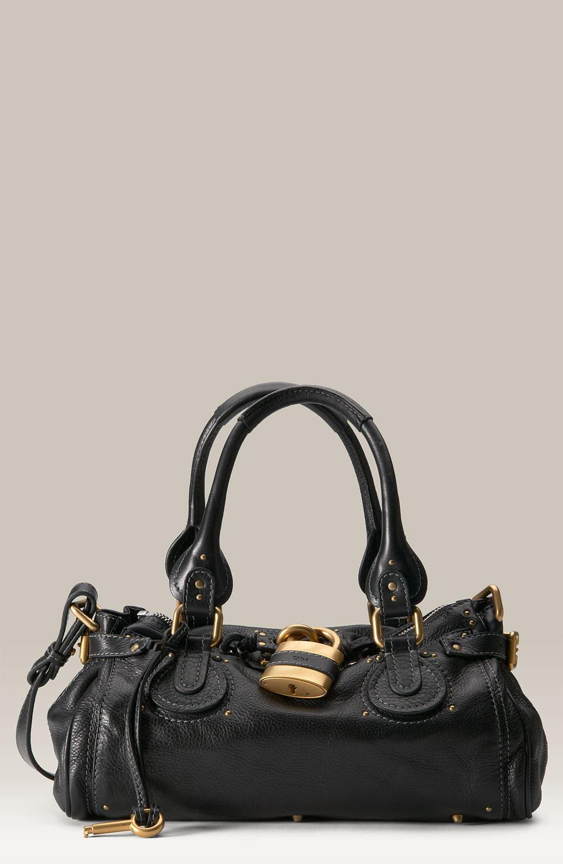 Alternate Image 1 Selected - Chloé 'Paddington' Leather Padlock Satchel