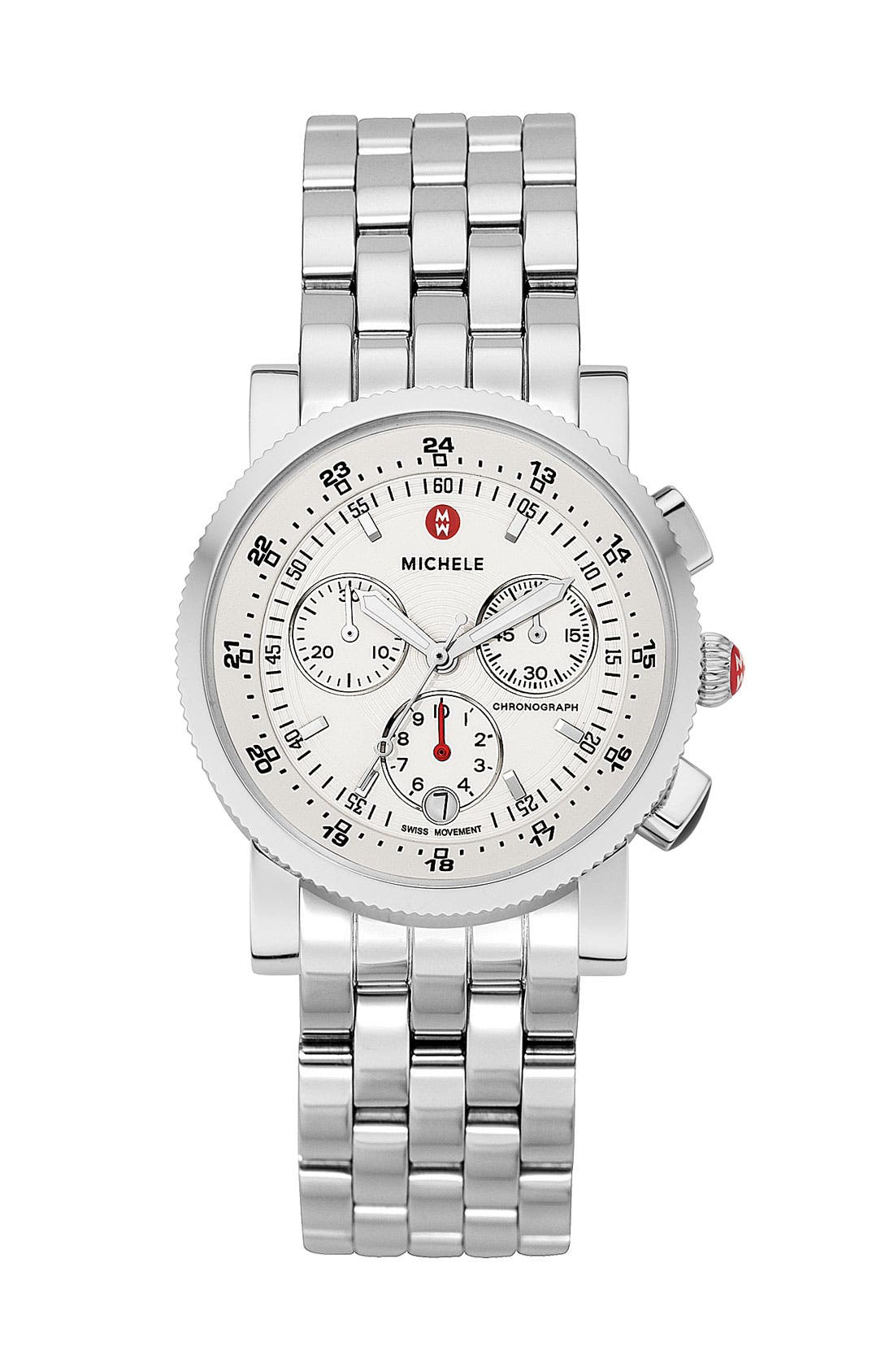Alternate Image 1 Selected - MICHELE 'Sport Sail' Diamond Watch Case & 20mm Bracelet