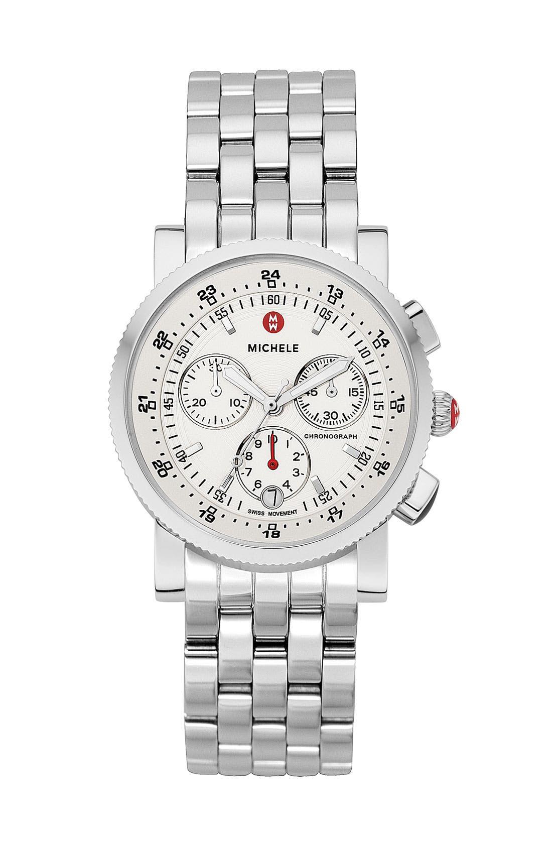 Main Image - MICHELE 'Sport Sail' Diamond Watch Case & 20mm Bracelet