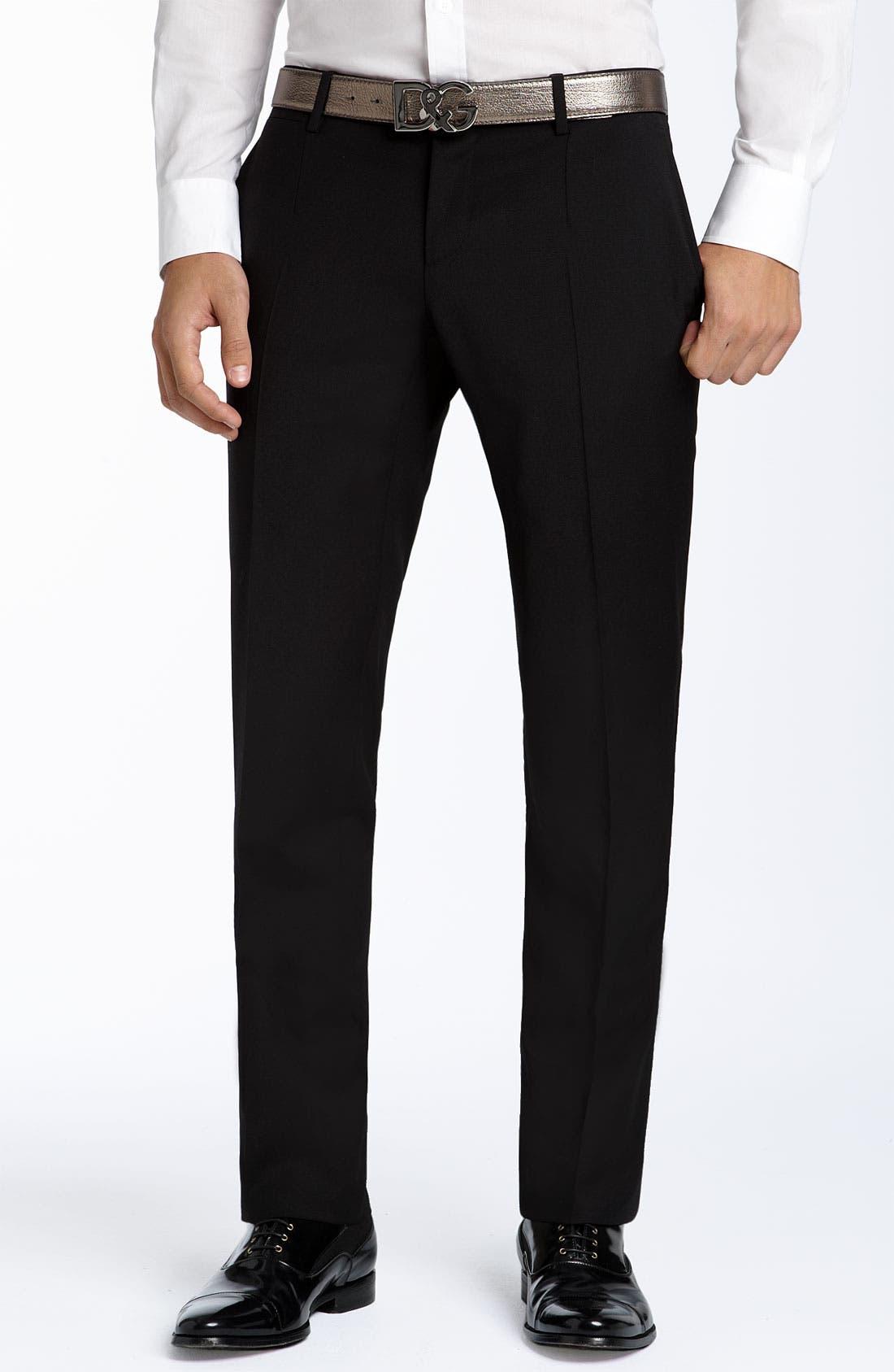 Alternate Image 2  - D&G Black Stretch Wool Suit