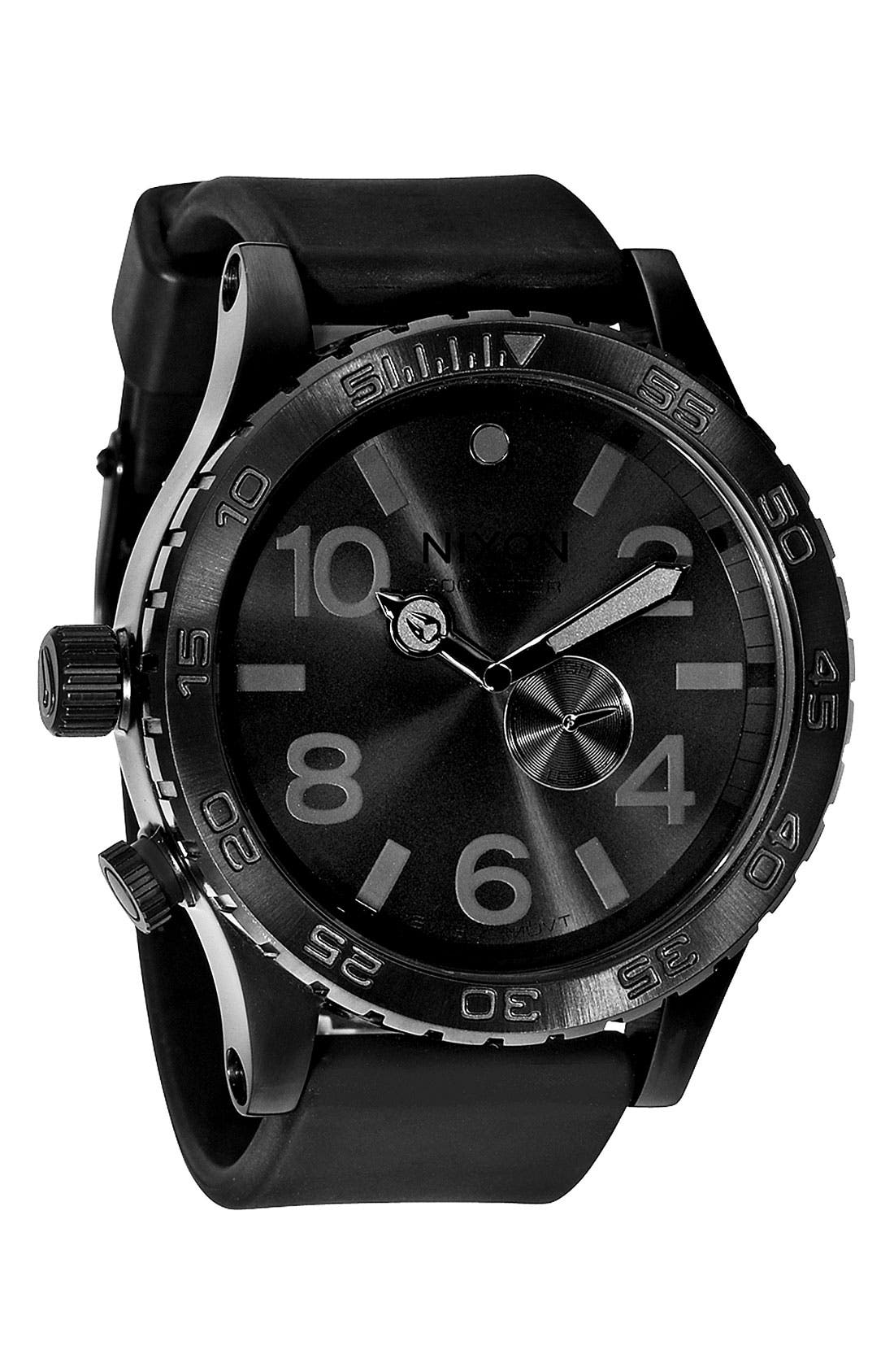 Alternate Image 1 Selected - Nixon 'The 51-30 PU' Rubber Band Watch