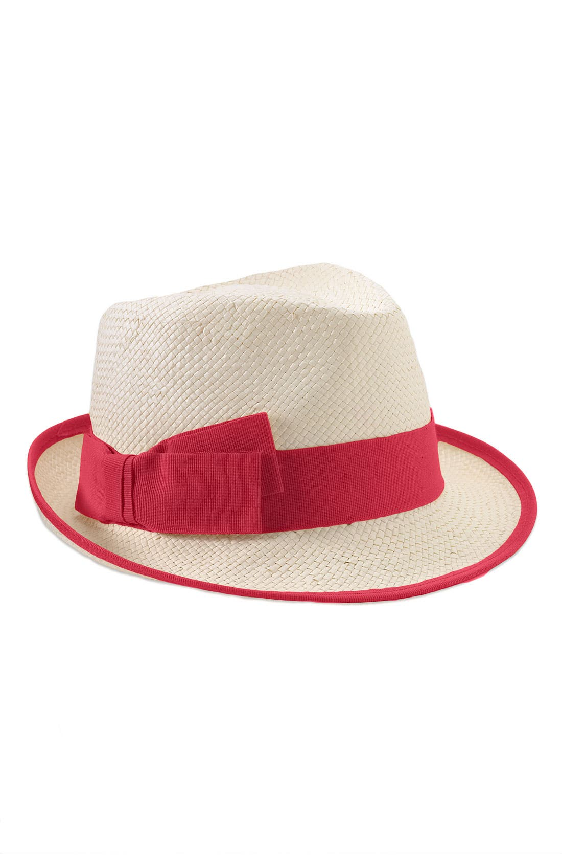 Alternate Image 1 Selected - Nordstrom Grosgrain Border Straw Fedora