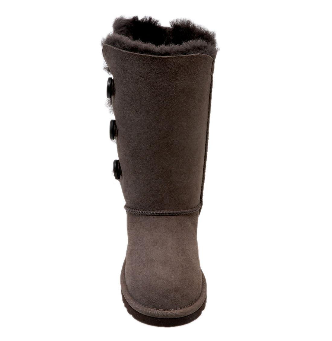 Alternate Image 4  - UGG® 'Bailey Button Triplet' Boot (Little Kid & Big Kid)