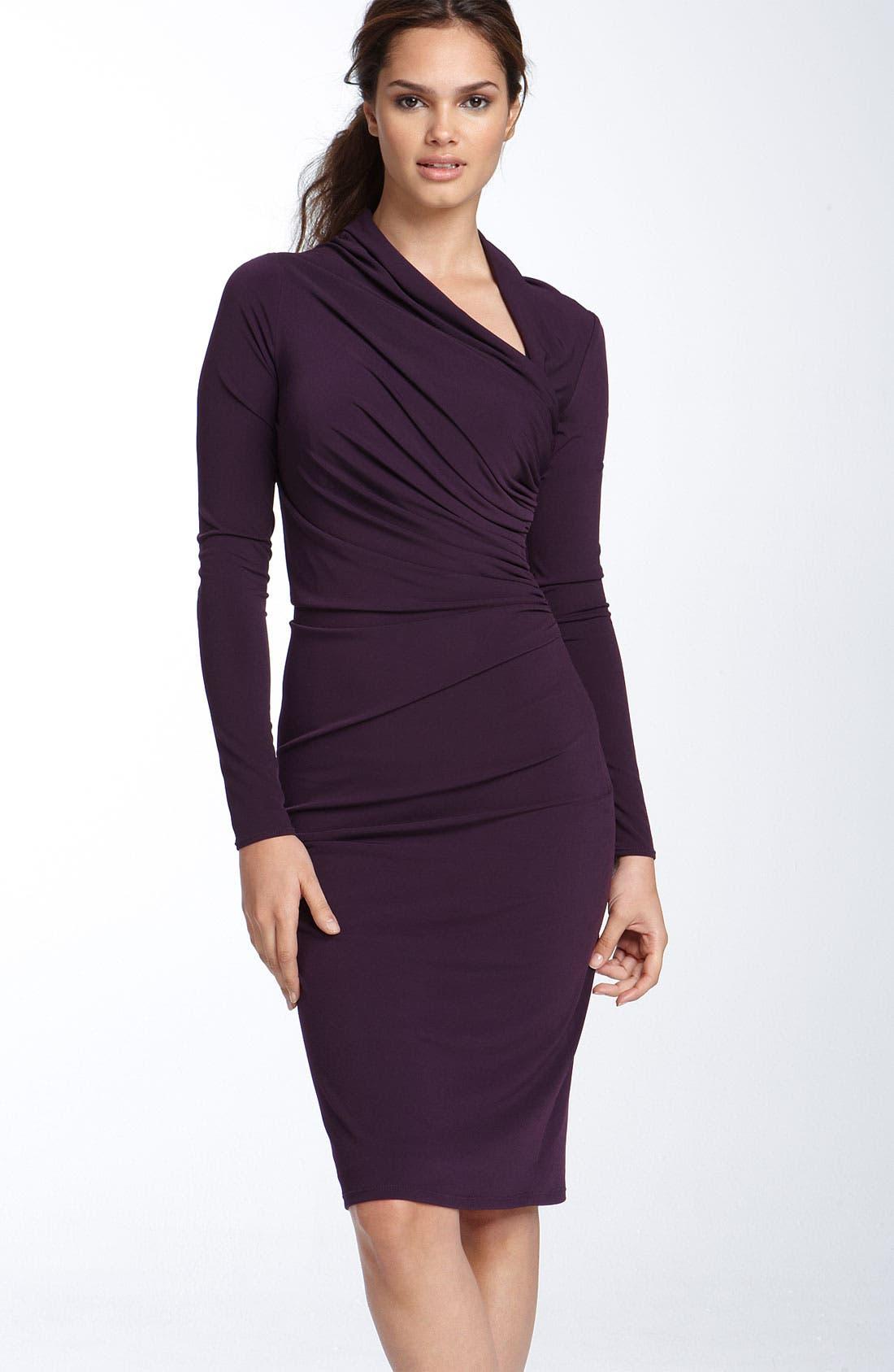 Main Image - David Meister Asymmetrical Matte Jersey Sheath Dress