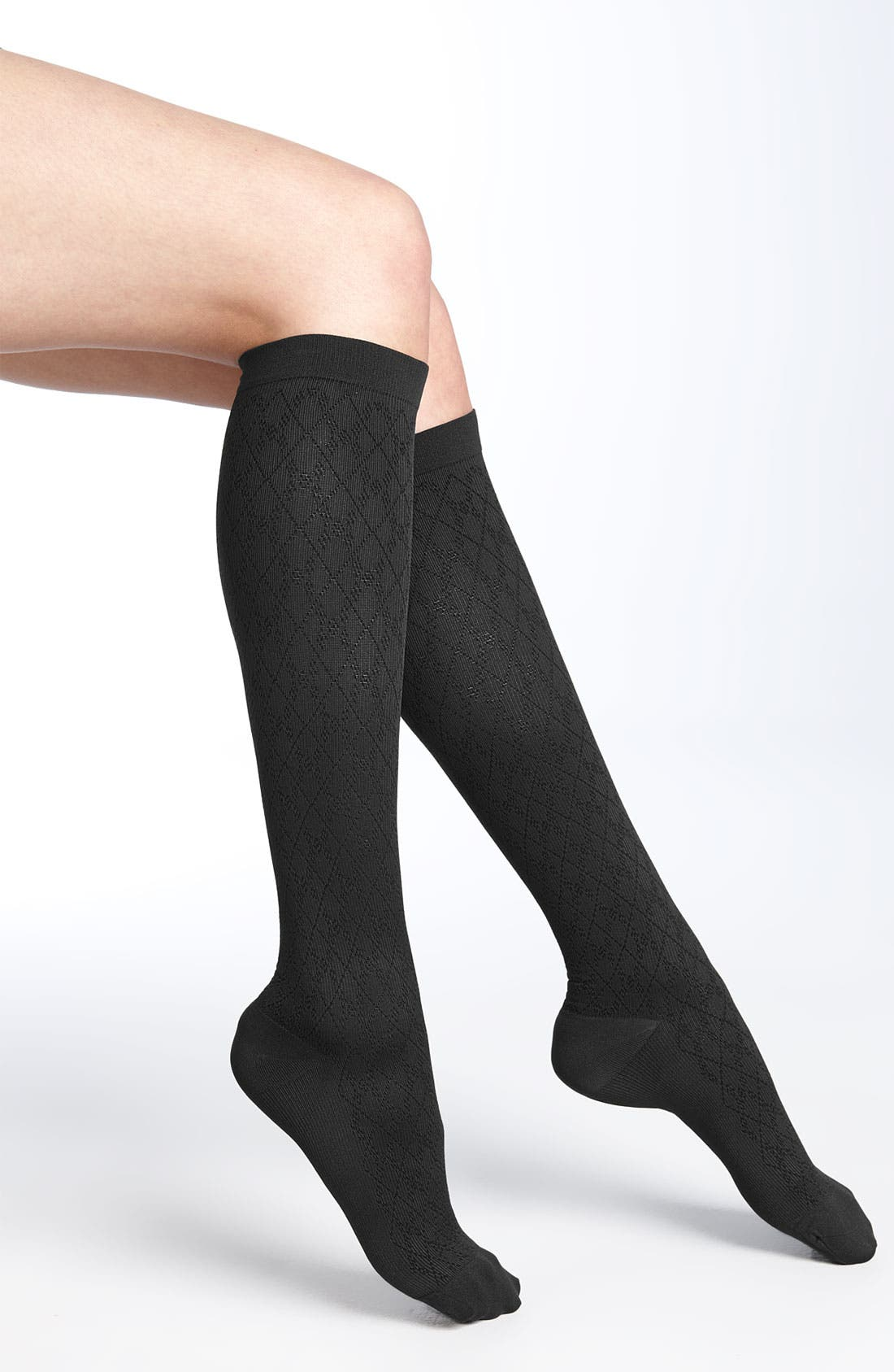 Alternate Image 1 Selected - Nordstrom 'Diamond' Compression Trouser Socks (3 for $36)