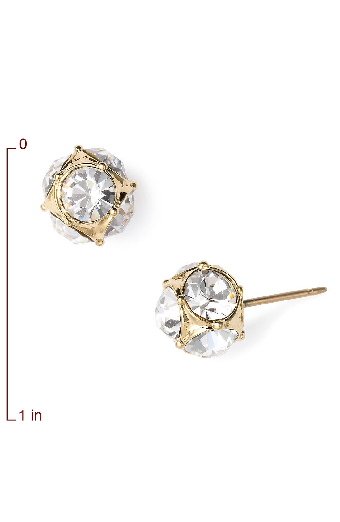 Alternate Image 2  - kate spade new york glass stone stud earrings