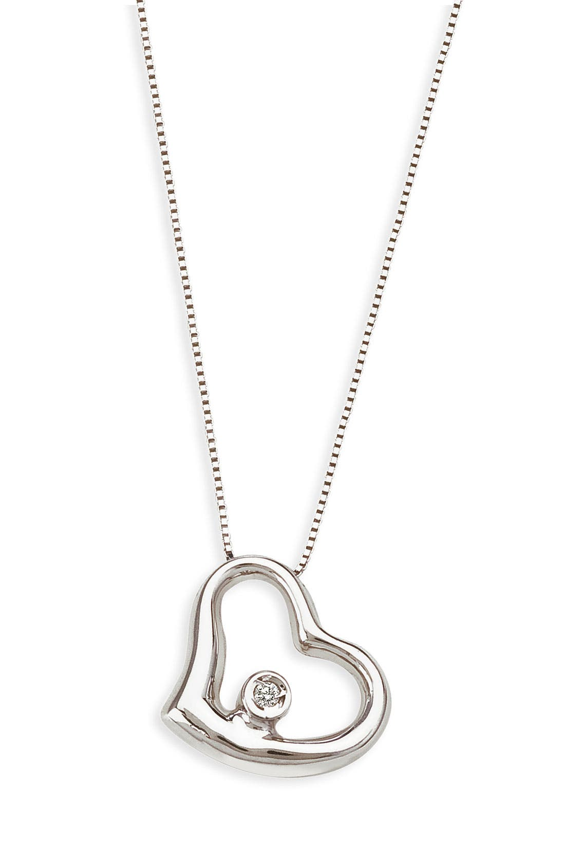 Alternate Image 1 Selected - Roberto Coin Small Floating Heart Pendant Necklace