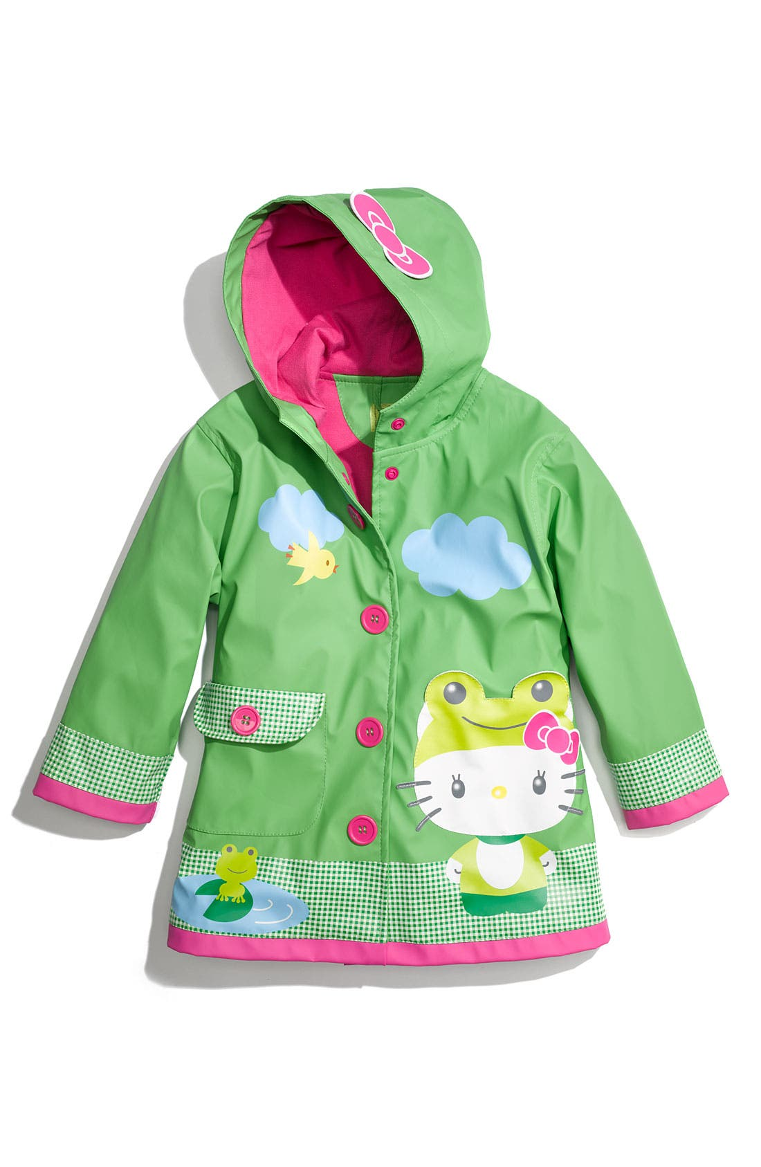 Main Image - Western Chief 'Hello Kitty® Froggy' Raincoat (Toddler Girls & Little Girls)