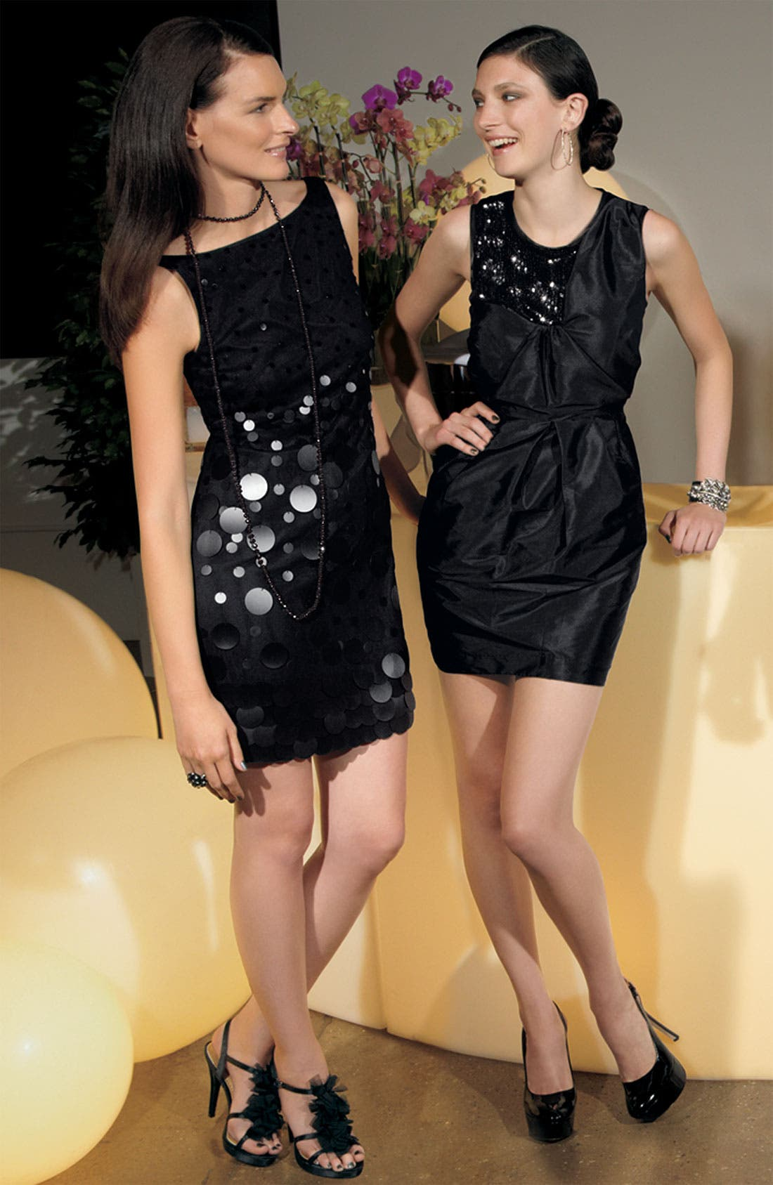 Alternate Image 3  - Alexia Admor Sequin Trim Taffeta Sheath Dress