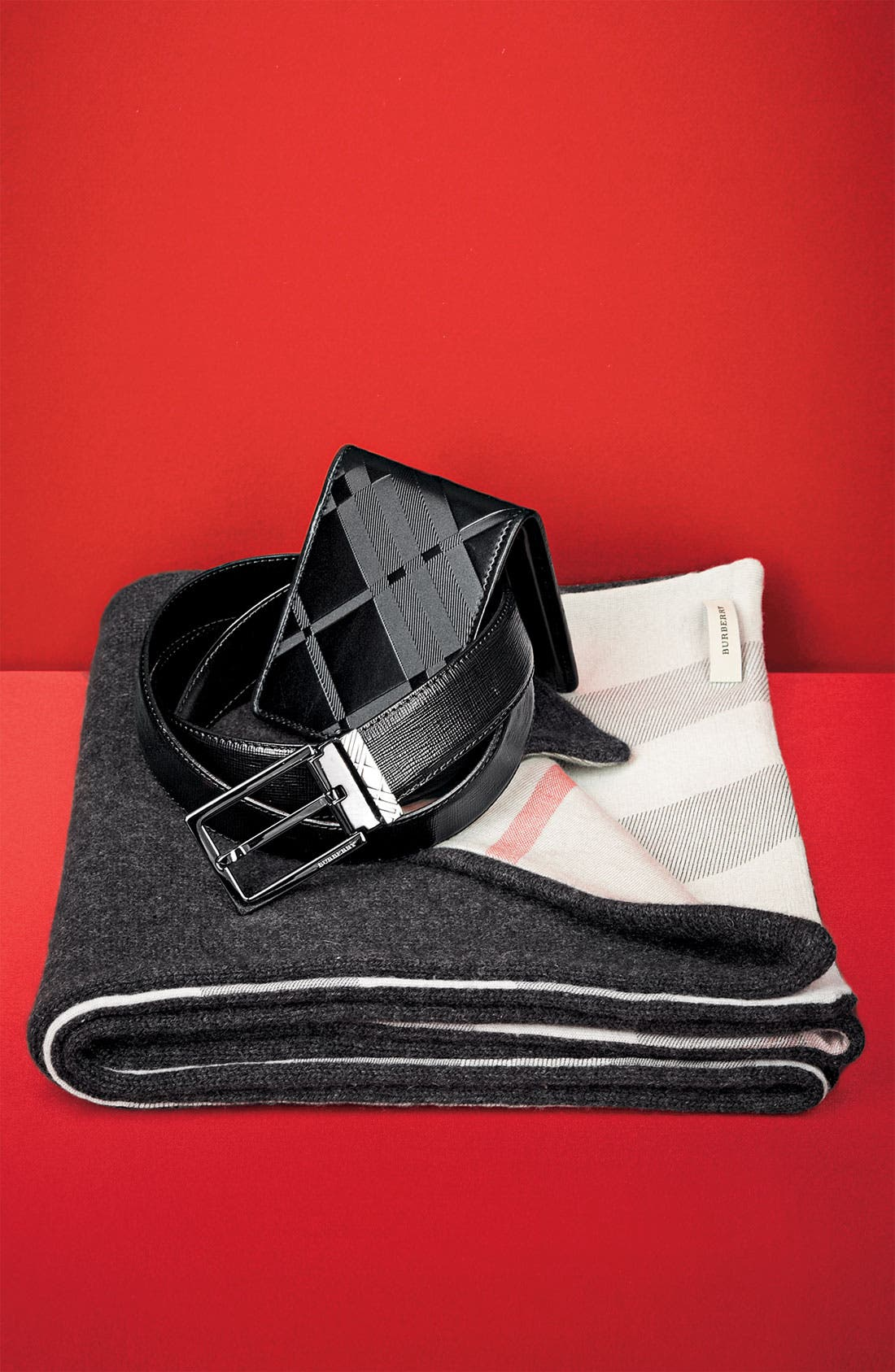 Alternate Image 2  - Burberry Embossed Leather Belt