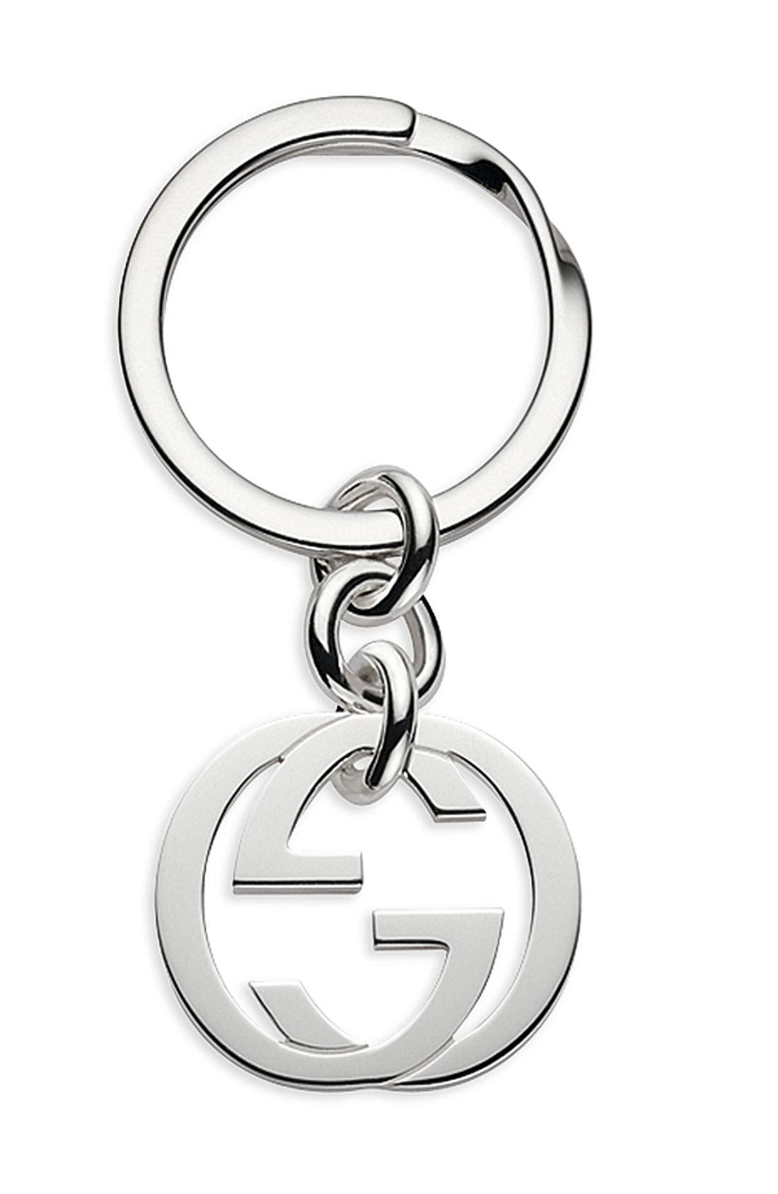 Alternate Image 1 Selected - Gucci 'Silver Britt' Key Ring