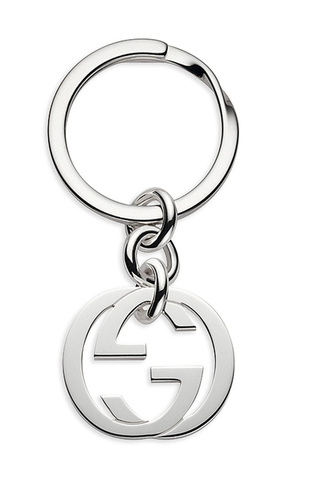 Main Image - Gucci 'Silver Britt' Key Ring