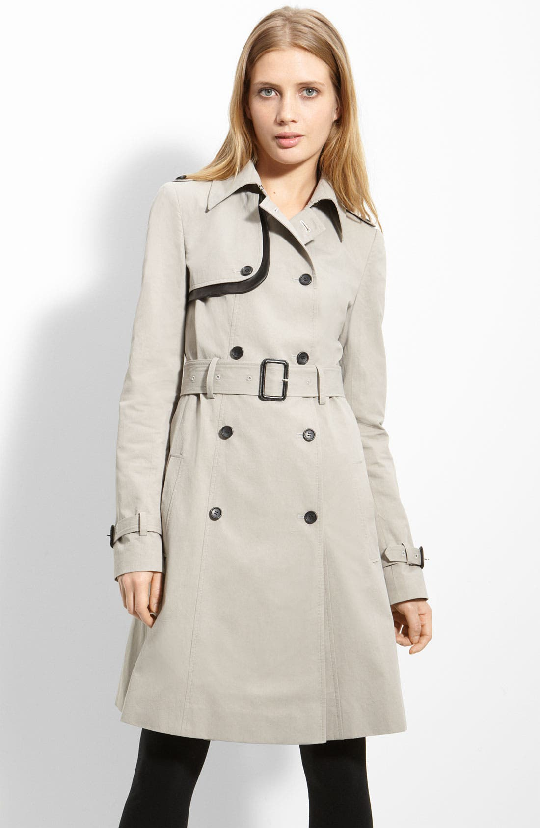 Alternate Image 1 Selected - Elizabeth and James Belted Twill Trench