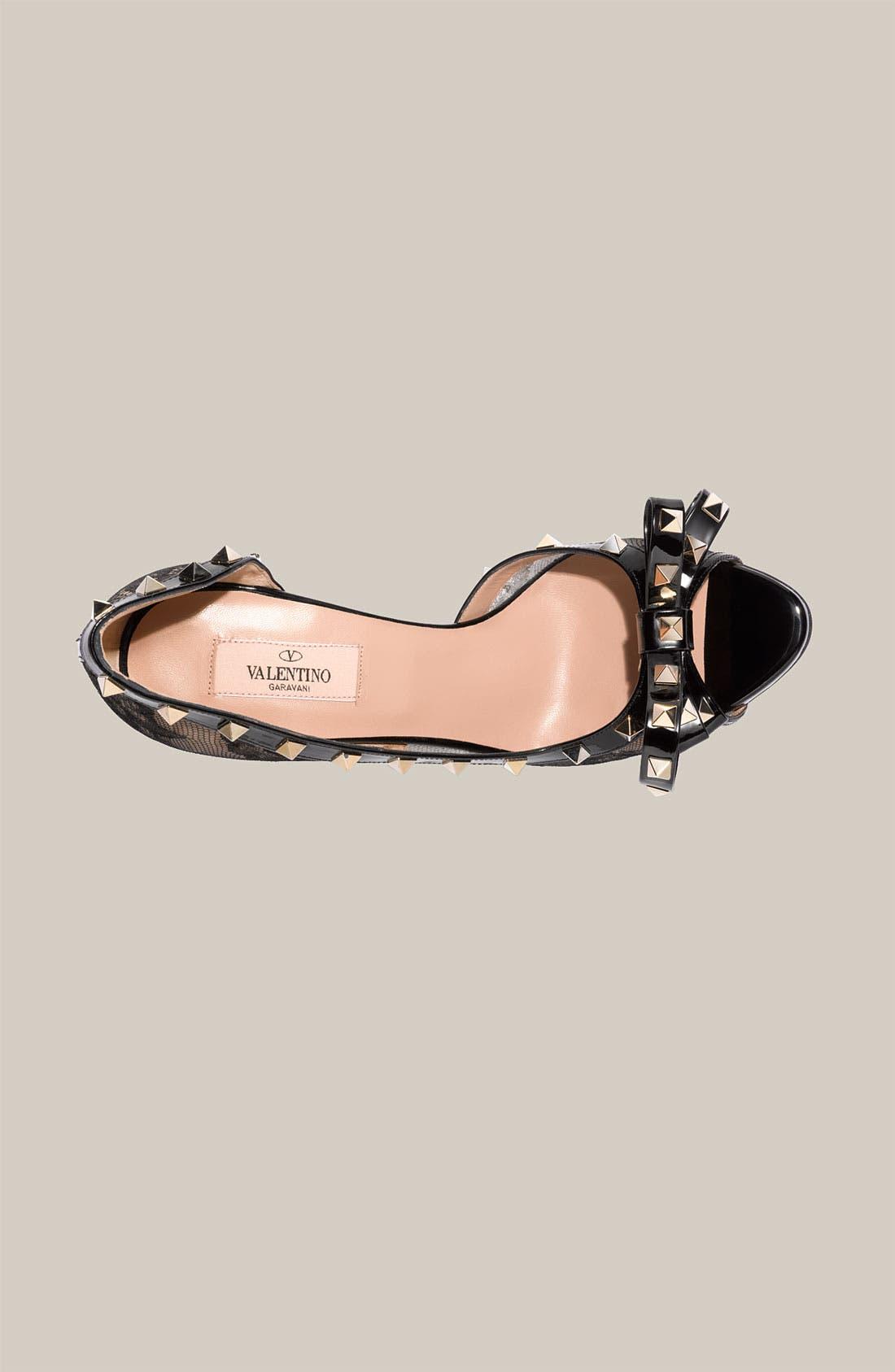 Alternate Image 3  - Valentino 'Rockstud' Lace d'Orsay Pump
