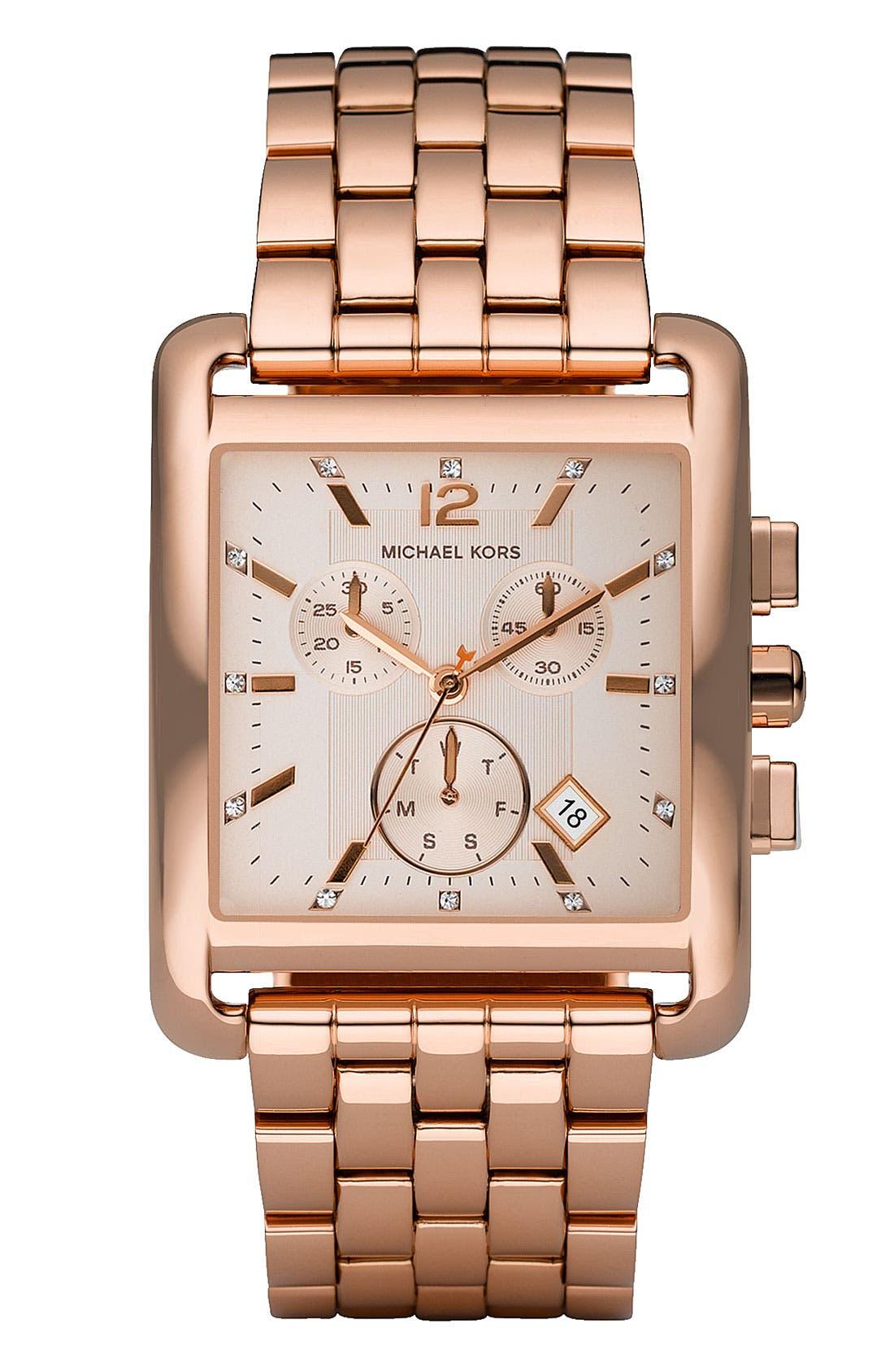 Main Image - Michael Kors Rectangle Case Chronograph Watch