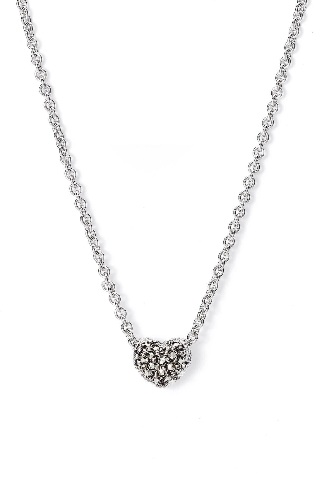 Main Image - Judith Jack Reversible Pavé Heart Necklace