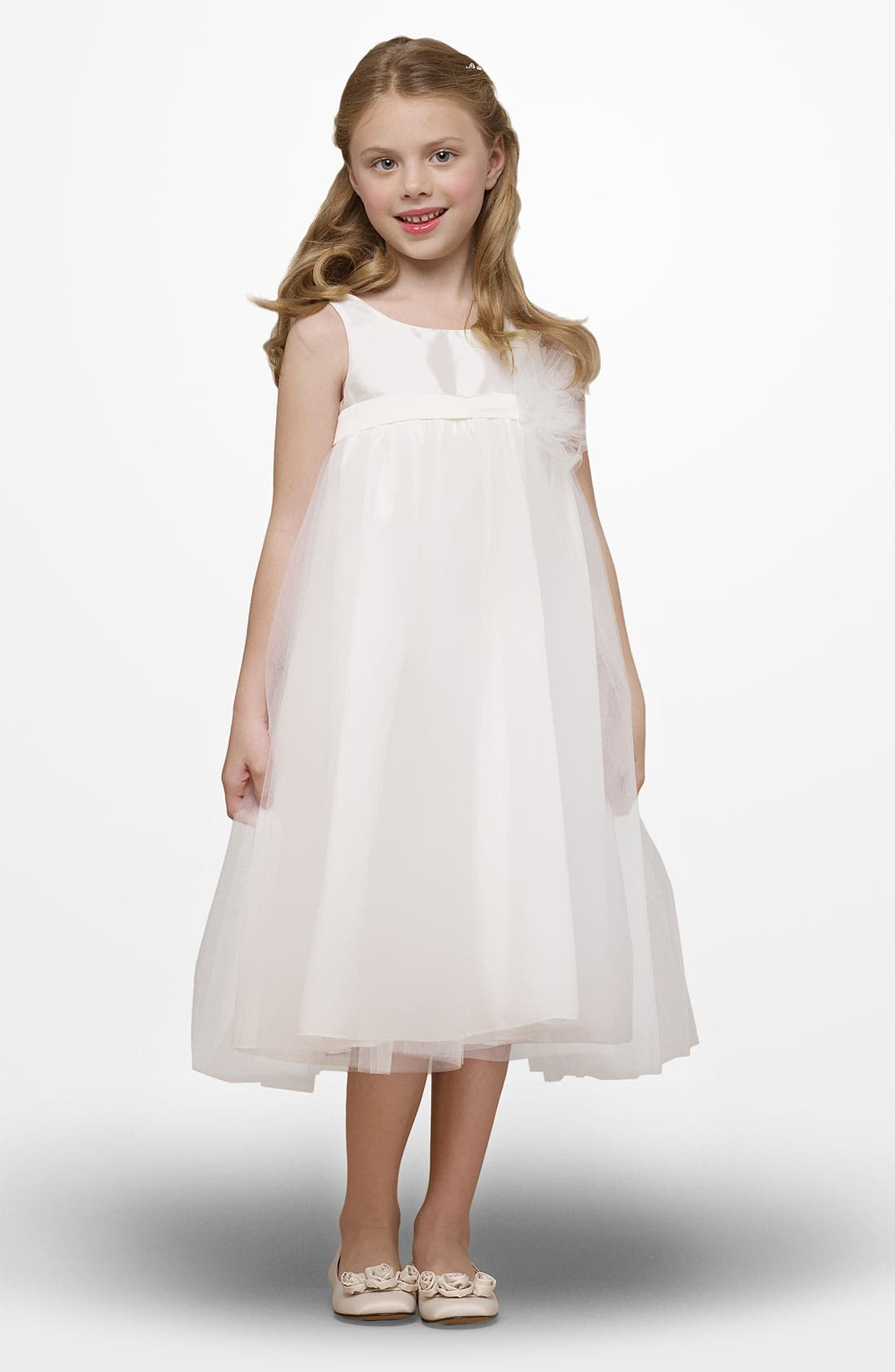 Alternate Image 1 Selected - Us Angels Taffeta Tutu Dress (Little Girls)