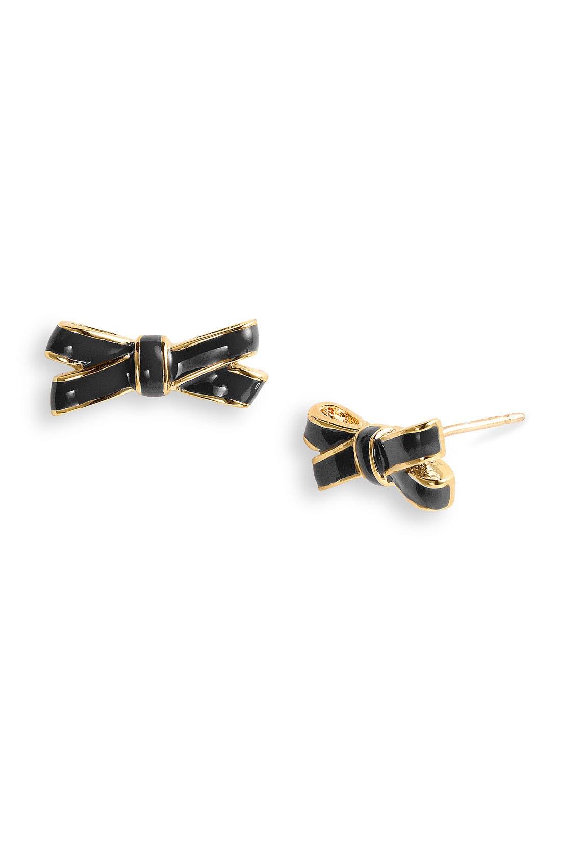 Alternate Image 1 Selected - kate spade new york double bow stud earrings