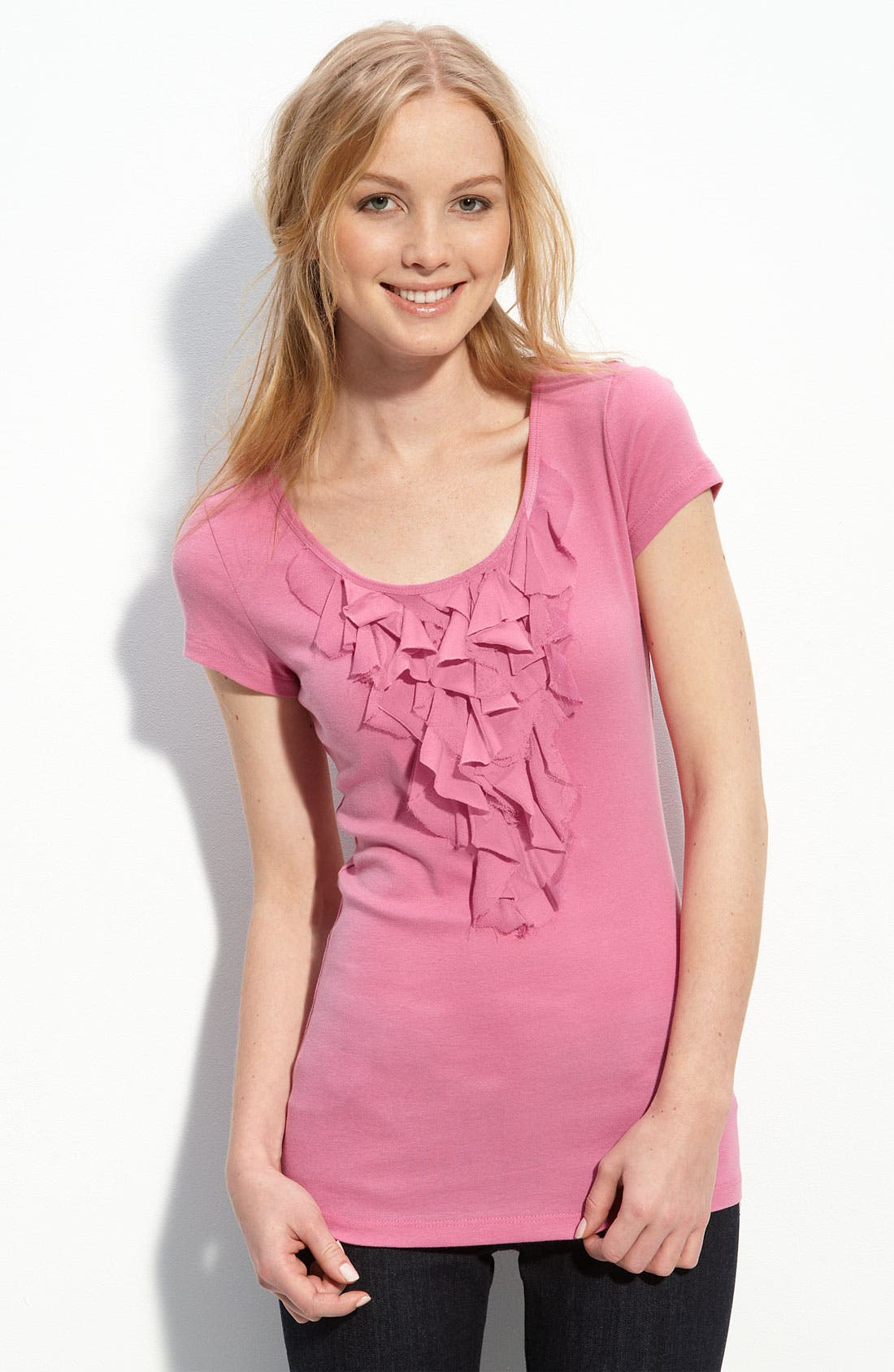 Alternate Image 1 Selected - Caslon® Ruffle Tee