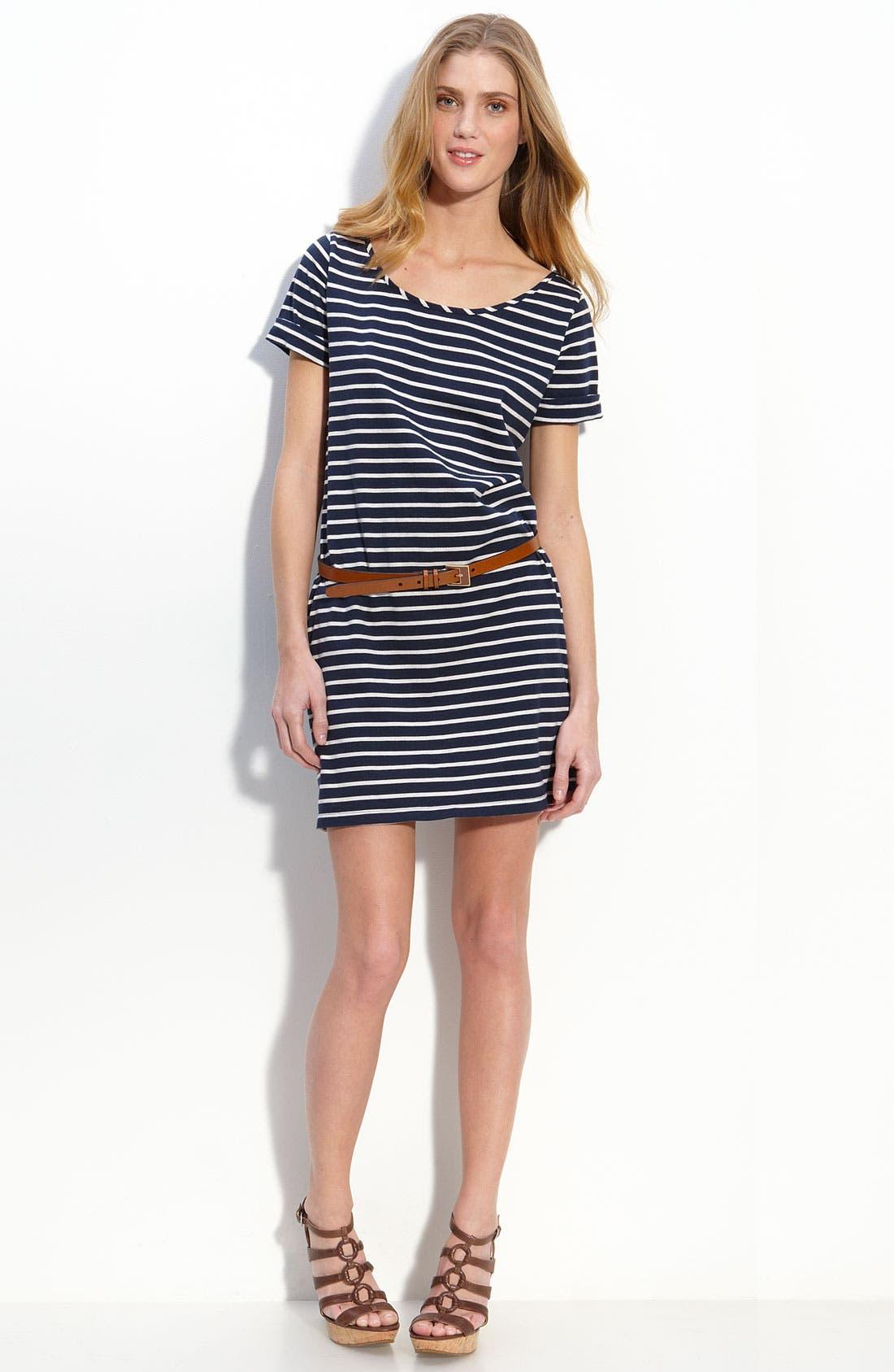 Alternate Image 1 Selected - Lucky Brand Stripe T-Shirt Dress
