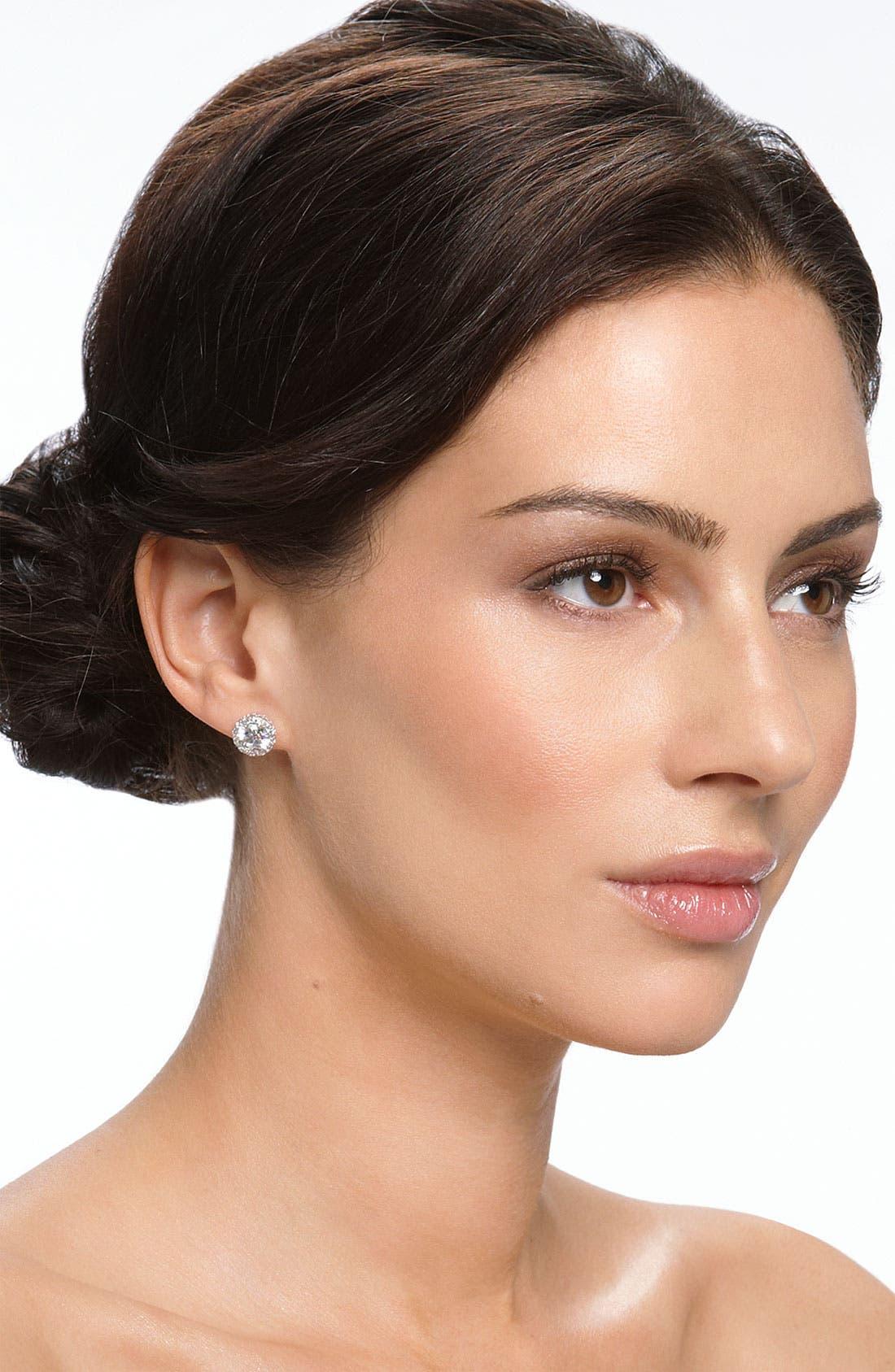 Alternate Image 2  - Nordstrom Round 3.48ct tw Cubic Zirconia Stud Earrings