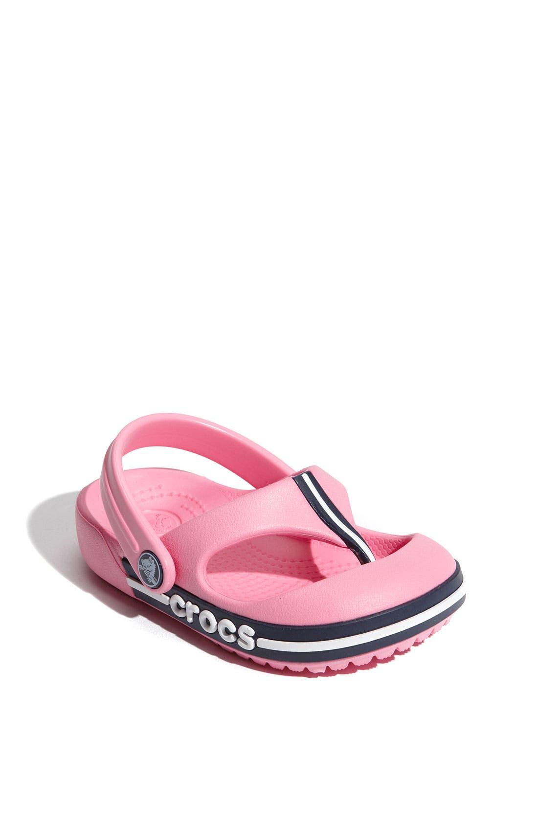 Alternate Image 1 Selected - CROCS™ 'Crocband' Flip Flop (Walker, Toddler & Little Kid)