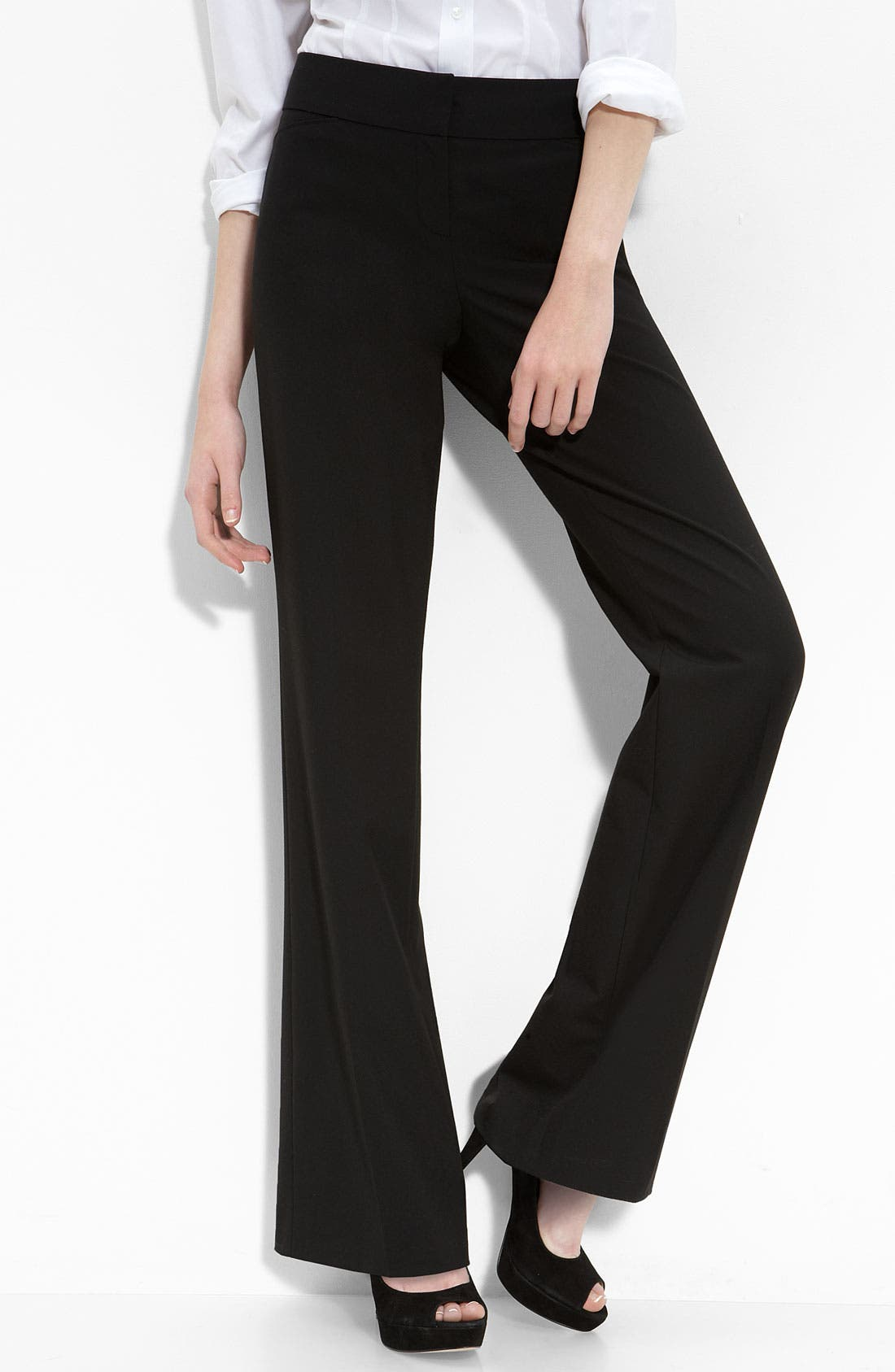 Alternate Image 1 Selected - Halogen® 'Quinn' Tab Waist Trousers (Petite)