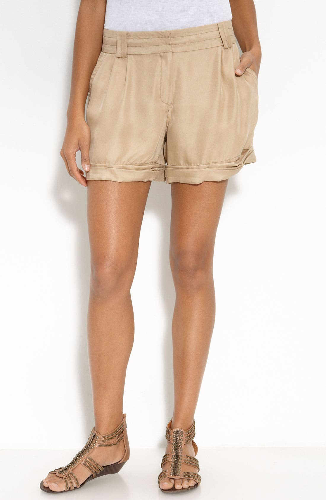 Main Image - Trouvé Pleated Shorts