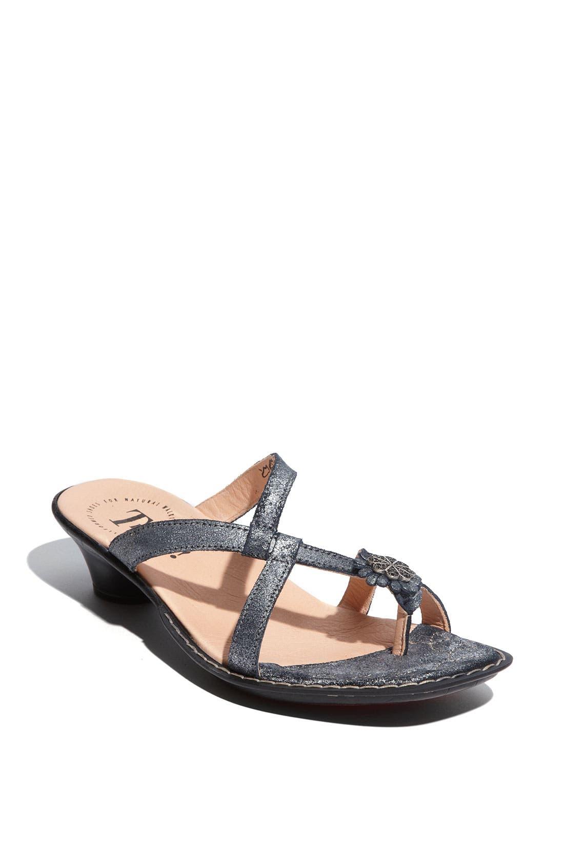 Main Image - Think! 'Soso' Metallic Leather Sandal