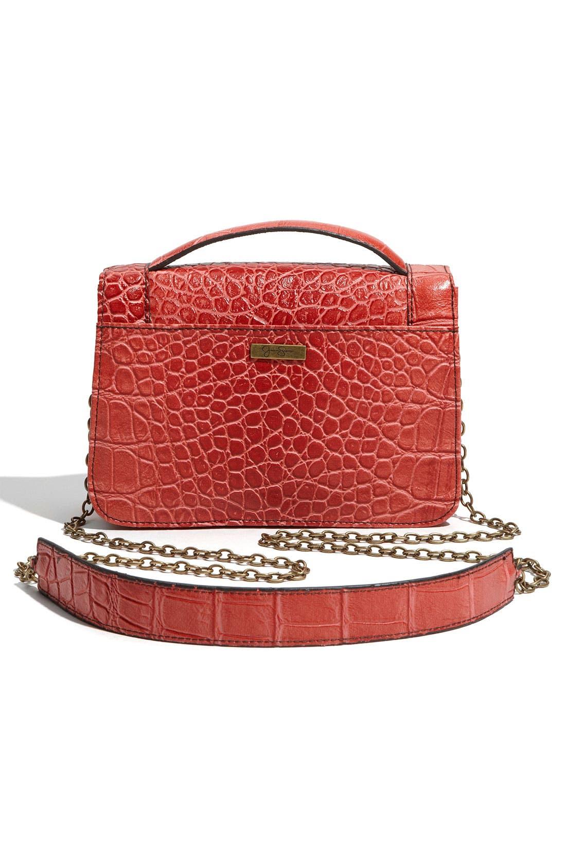 Alternate Image 4  - Jessica Simpson 'Bella' Faux Leather Crossbody Bag