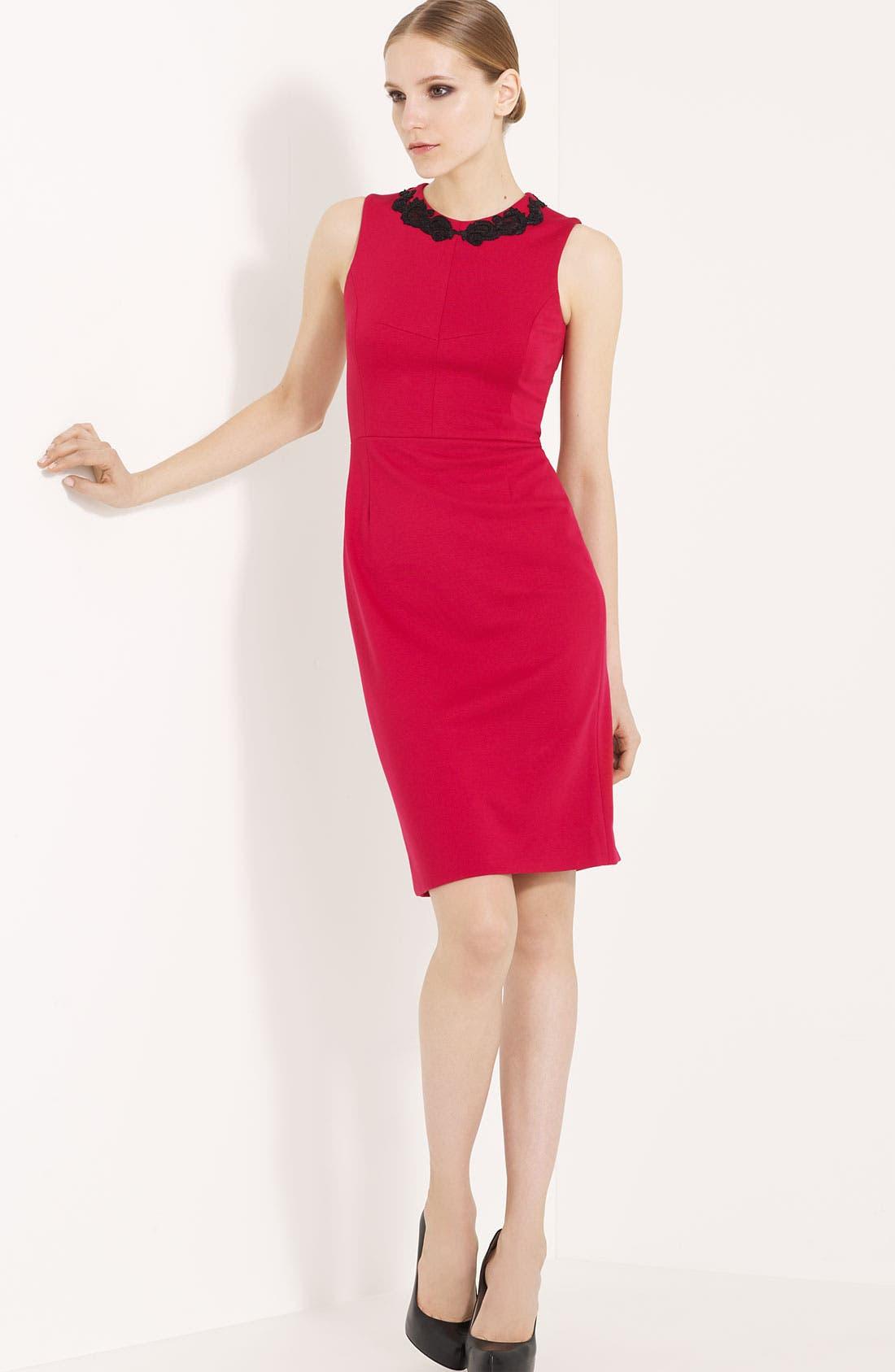 Alternate Image 1 Selected - Jason Wu Embroidered Jersey Dress