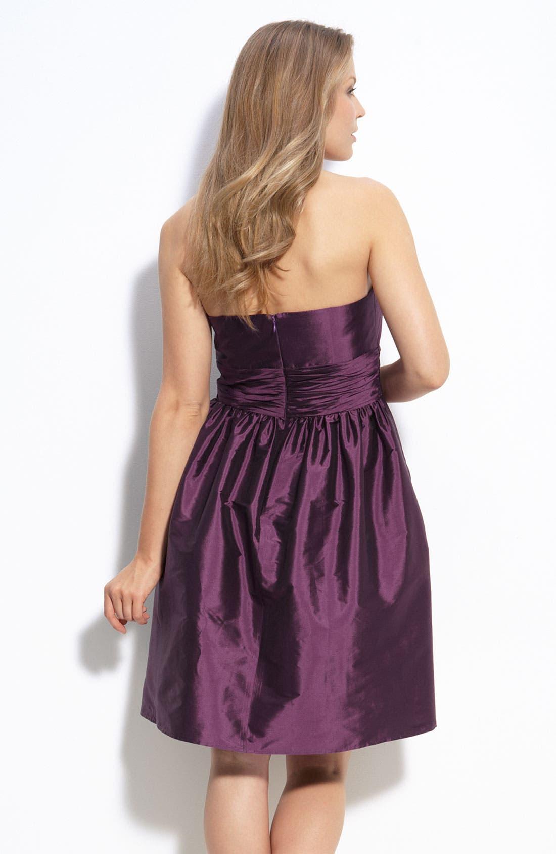 Alternate Image 2  - Eliza J Strapless Taffeta Dress