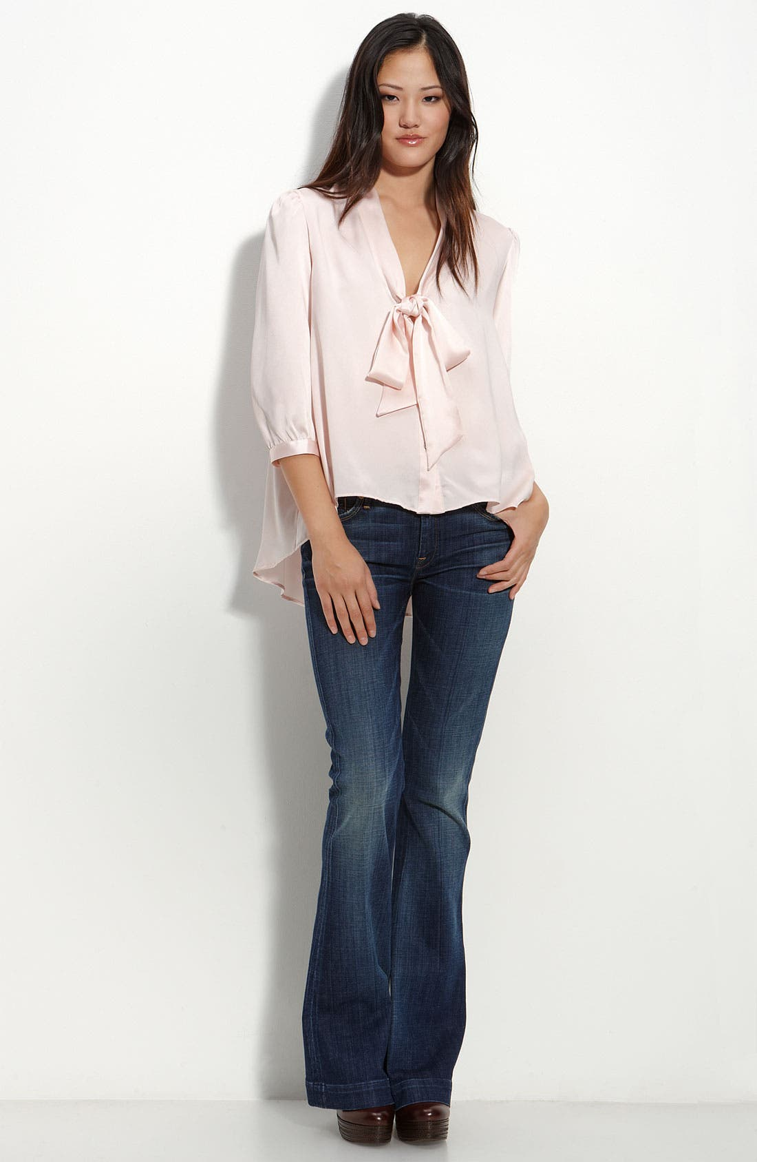 Alternate Image 3  - Remain Tie Neck Satin Blouse