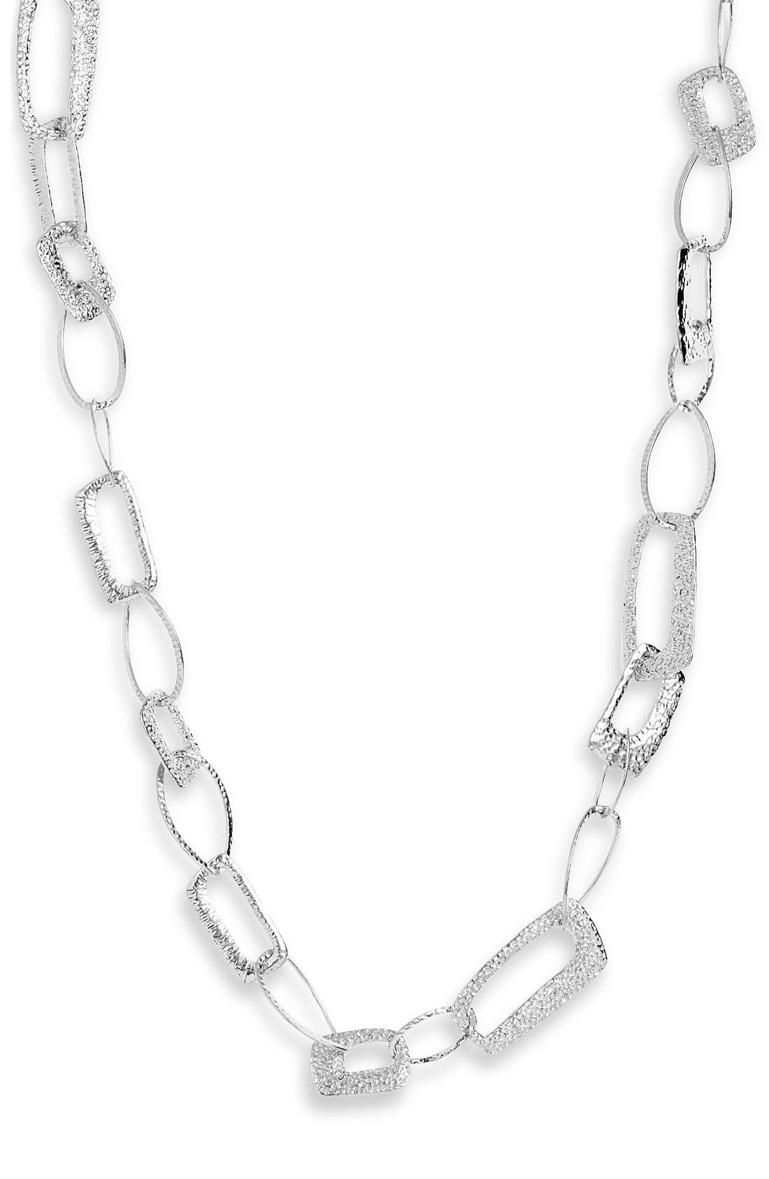 Alternate Image 1 Selected - Nordstrom 'Neo Geometric' Long Textured Necklace