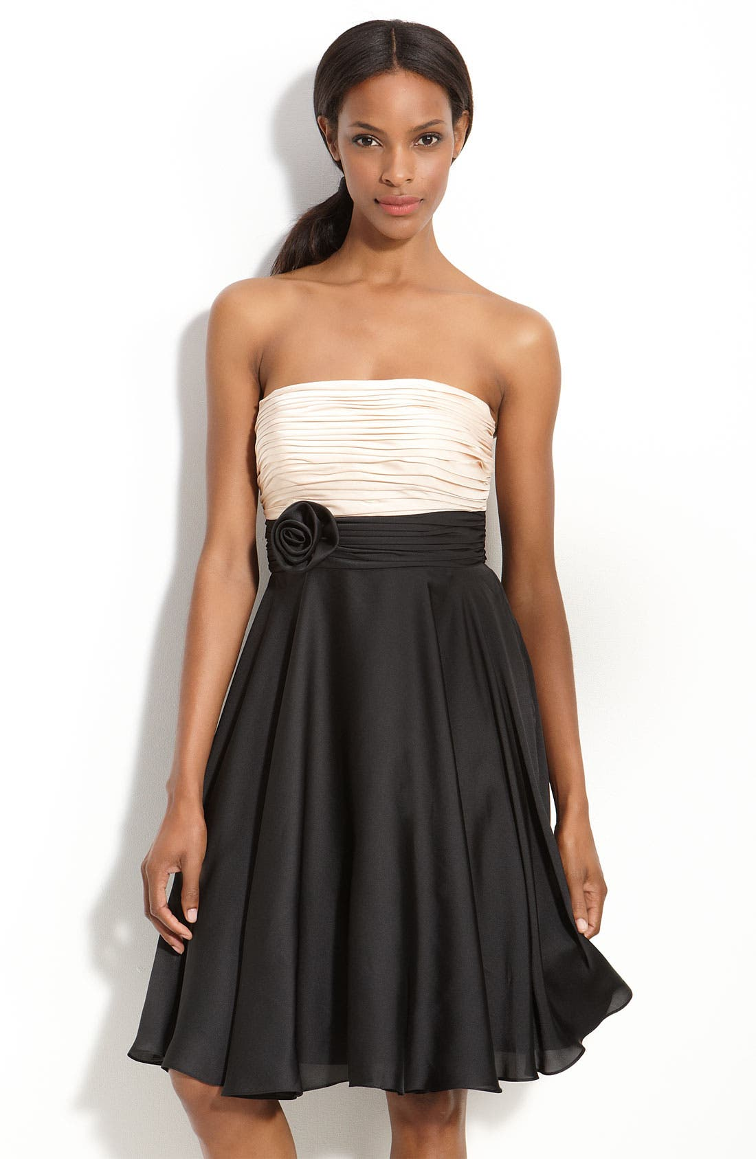 Alternate Image 1 Selected - JS Collections Pleated Strapless Dress